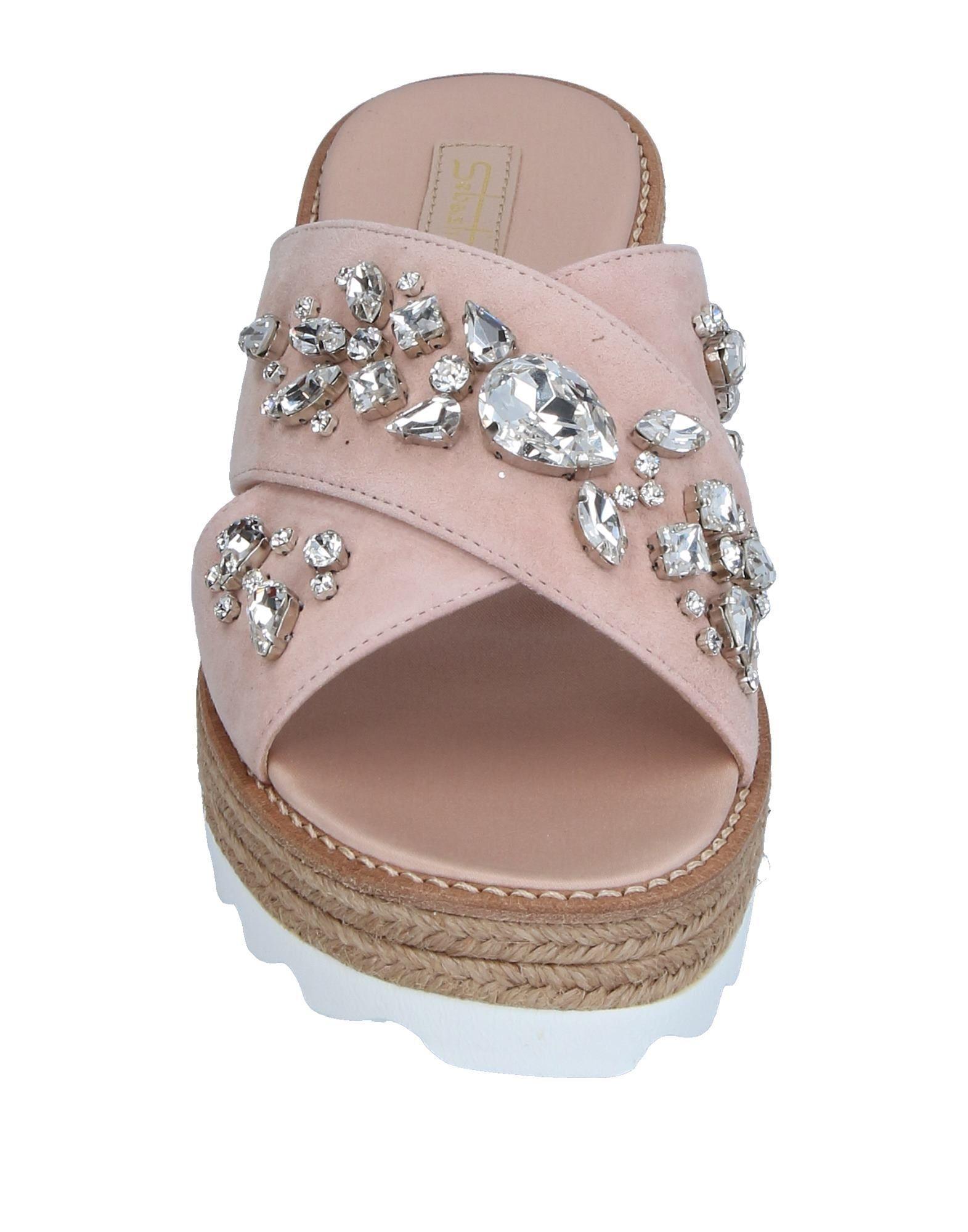 Sebastian Light Pink Embellished Leather Sandals