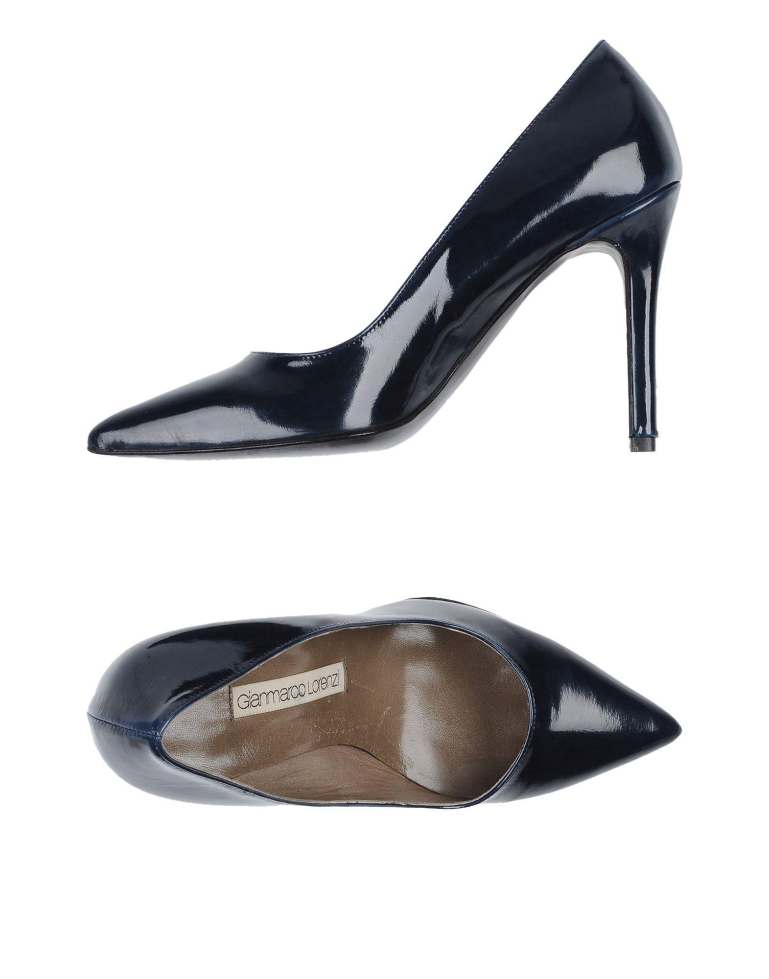 FOOTWEAR Gianmarco Lorenzi Dark blue Woman Leather