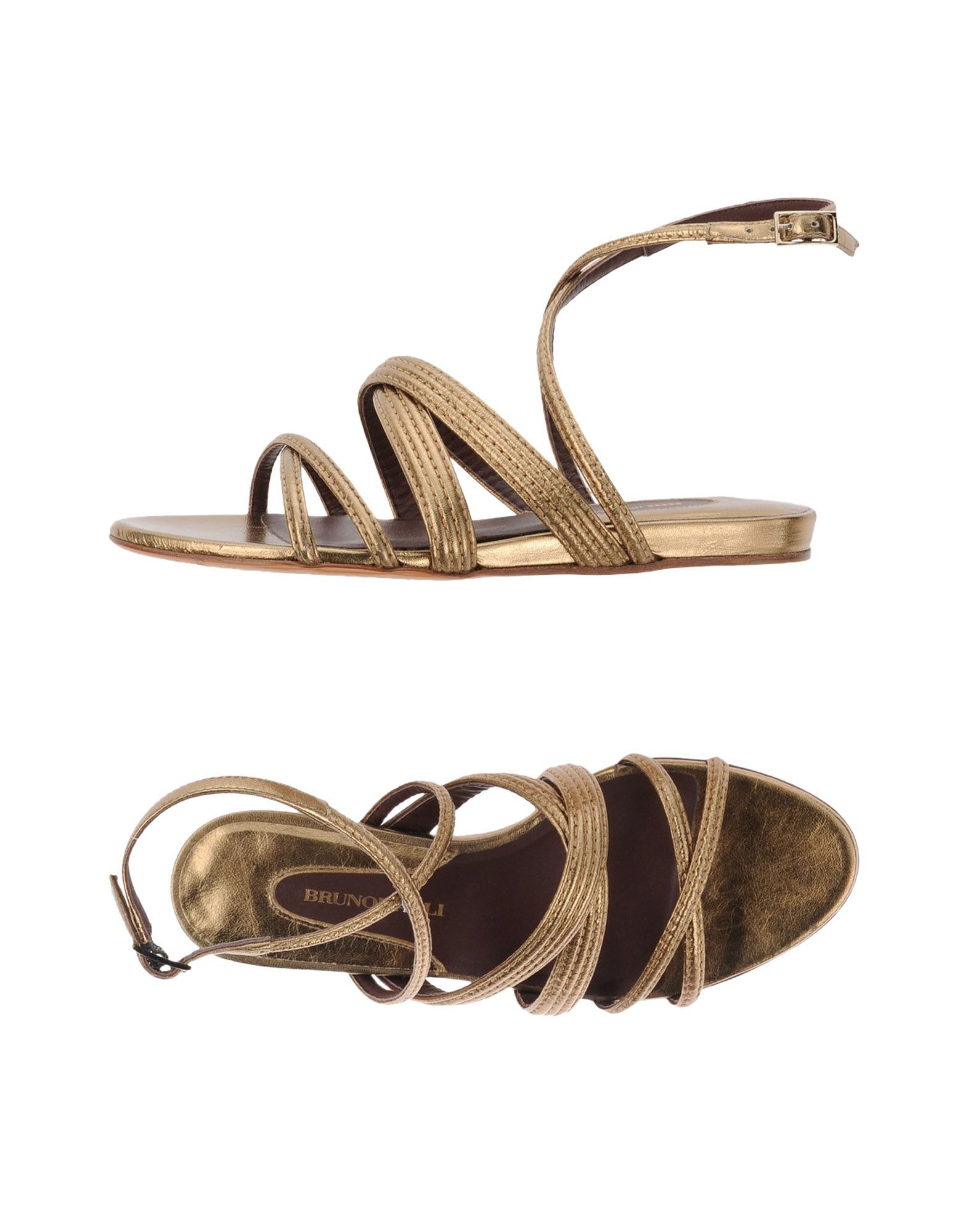 Bruno Magli Platinum Leather Sandals