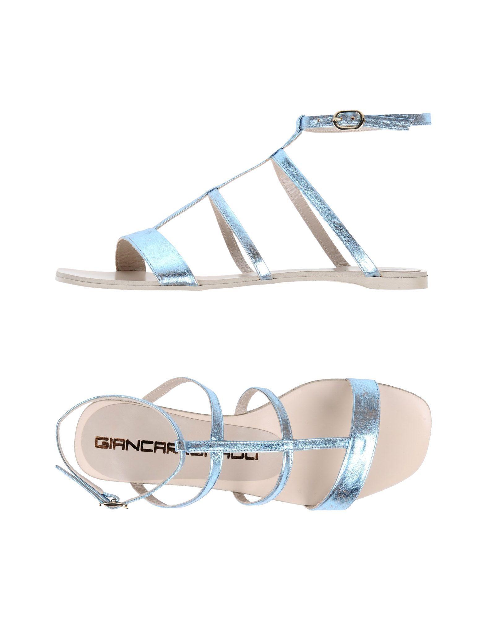 FOOTWEAR Giancarlo Paoli Sky blue Woman Leather