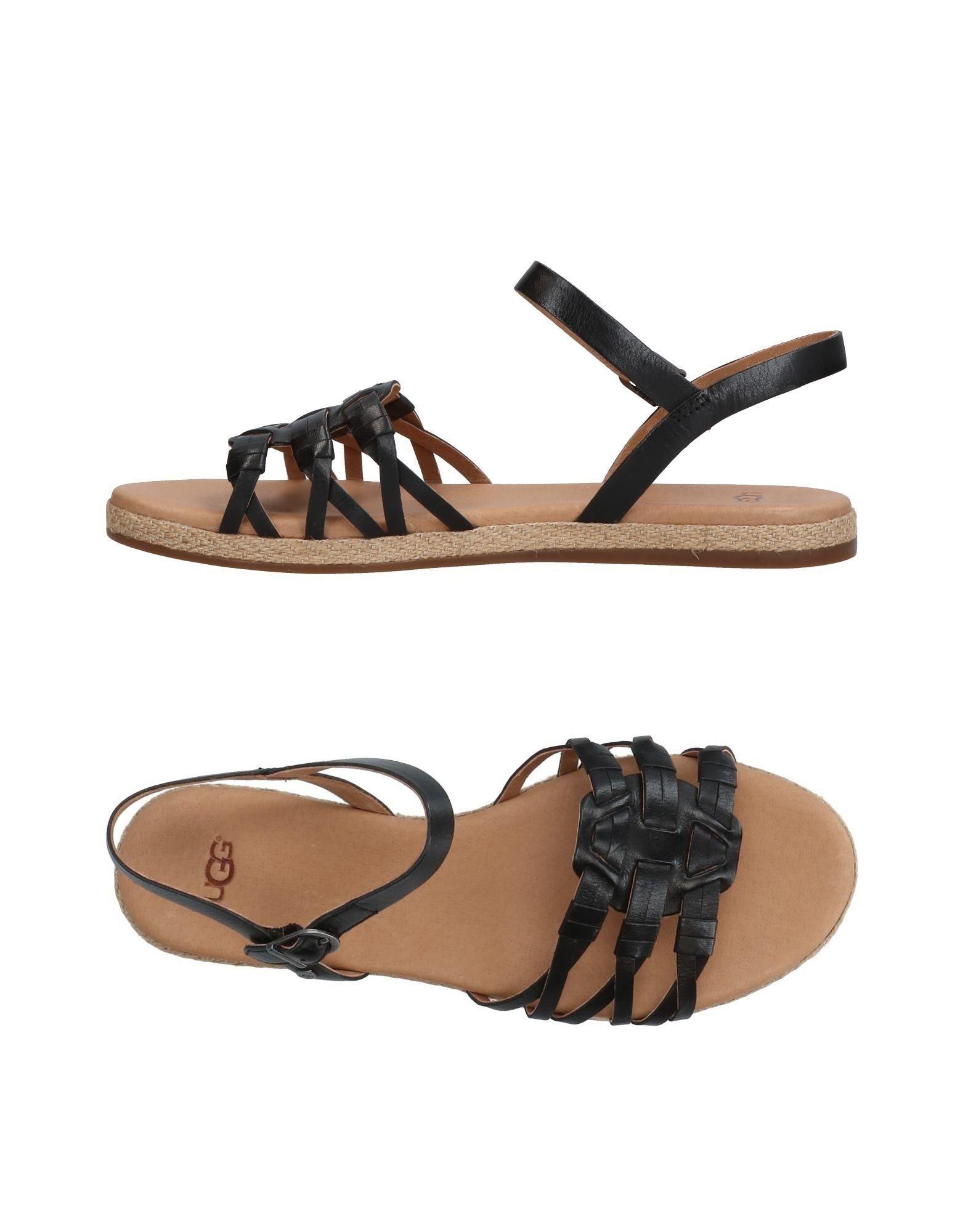 Ugg Australia Black Leather Sandals