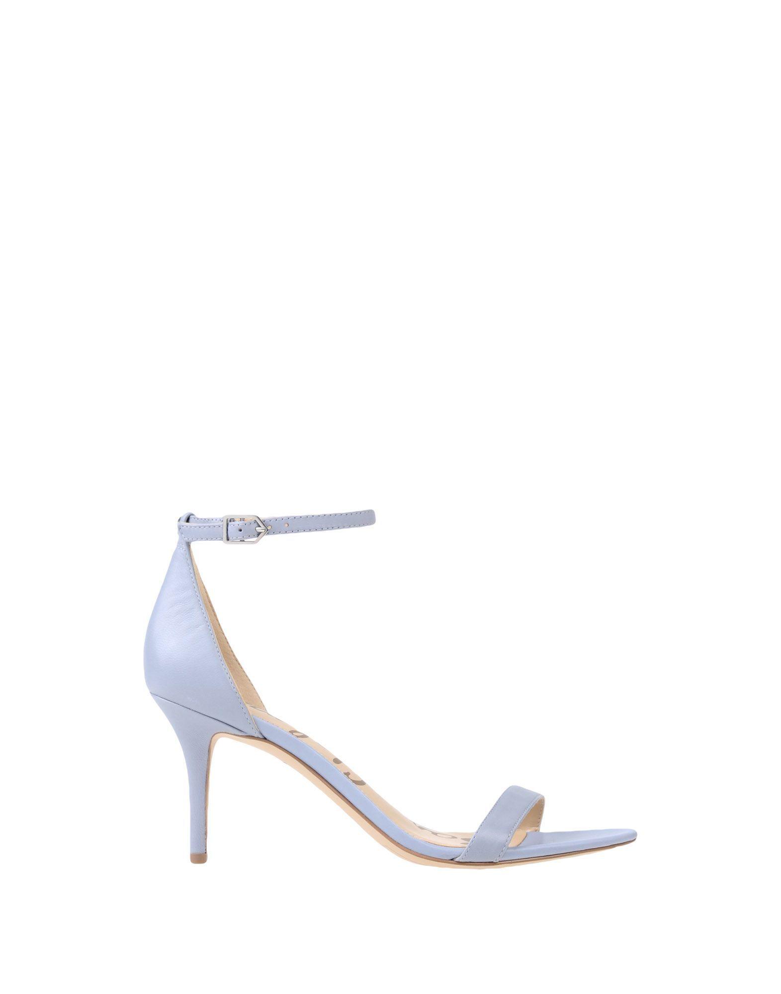 Sam Edelman Grey Leather Heeled Sandals
