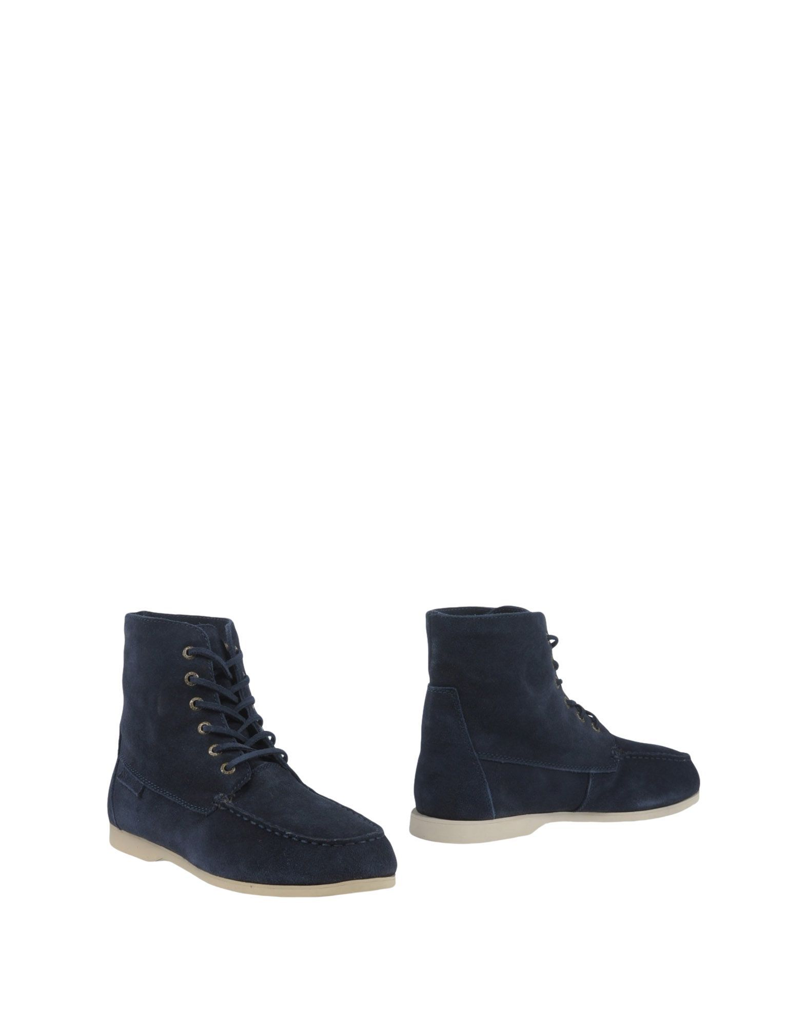 Superga Dark Blue Leather Ankle Boots