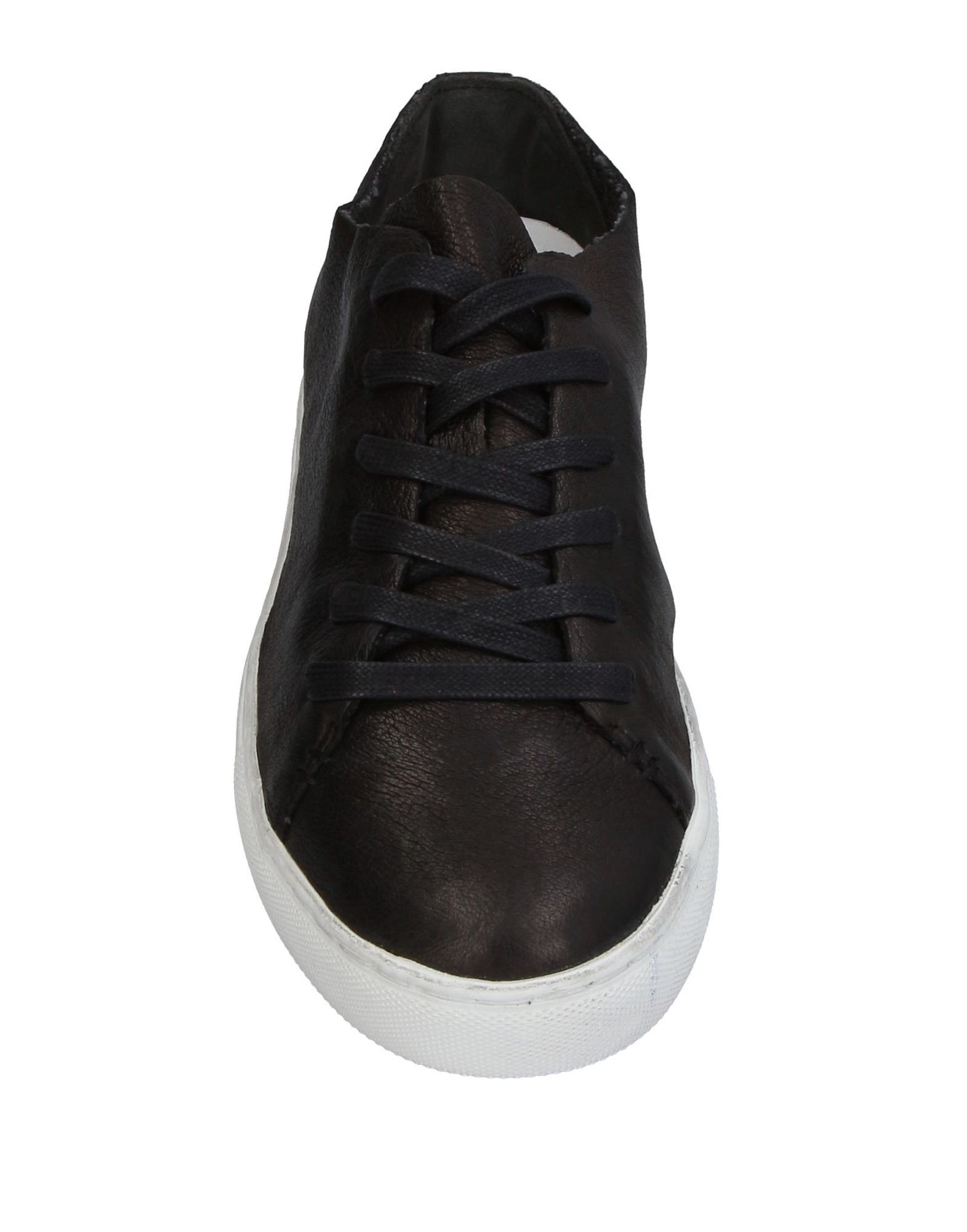 Crime London Black Leather Sneakers