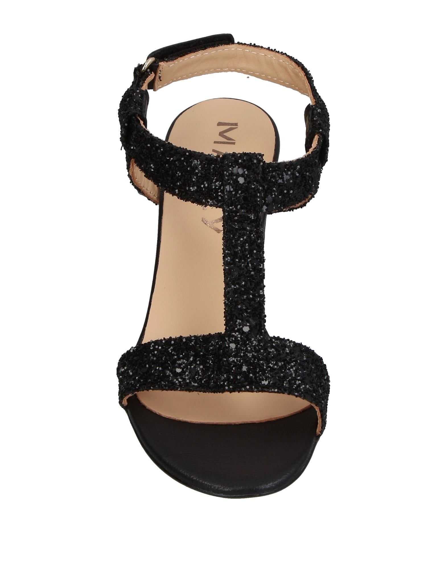 Mally Black Heeled Sandals