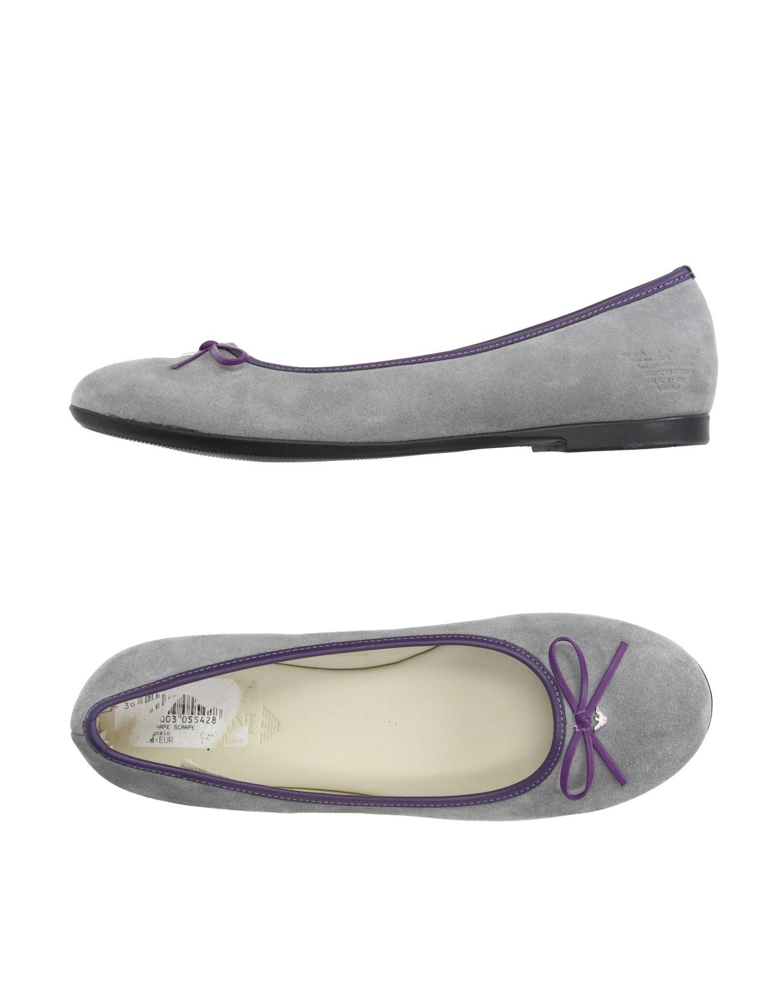 FOOTWEAR Armani Junior Grey Girl Leather