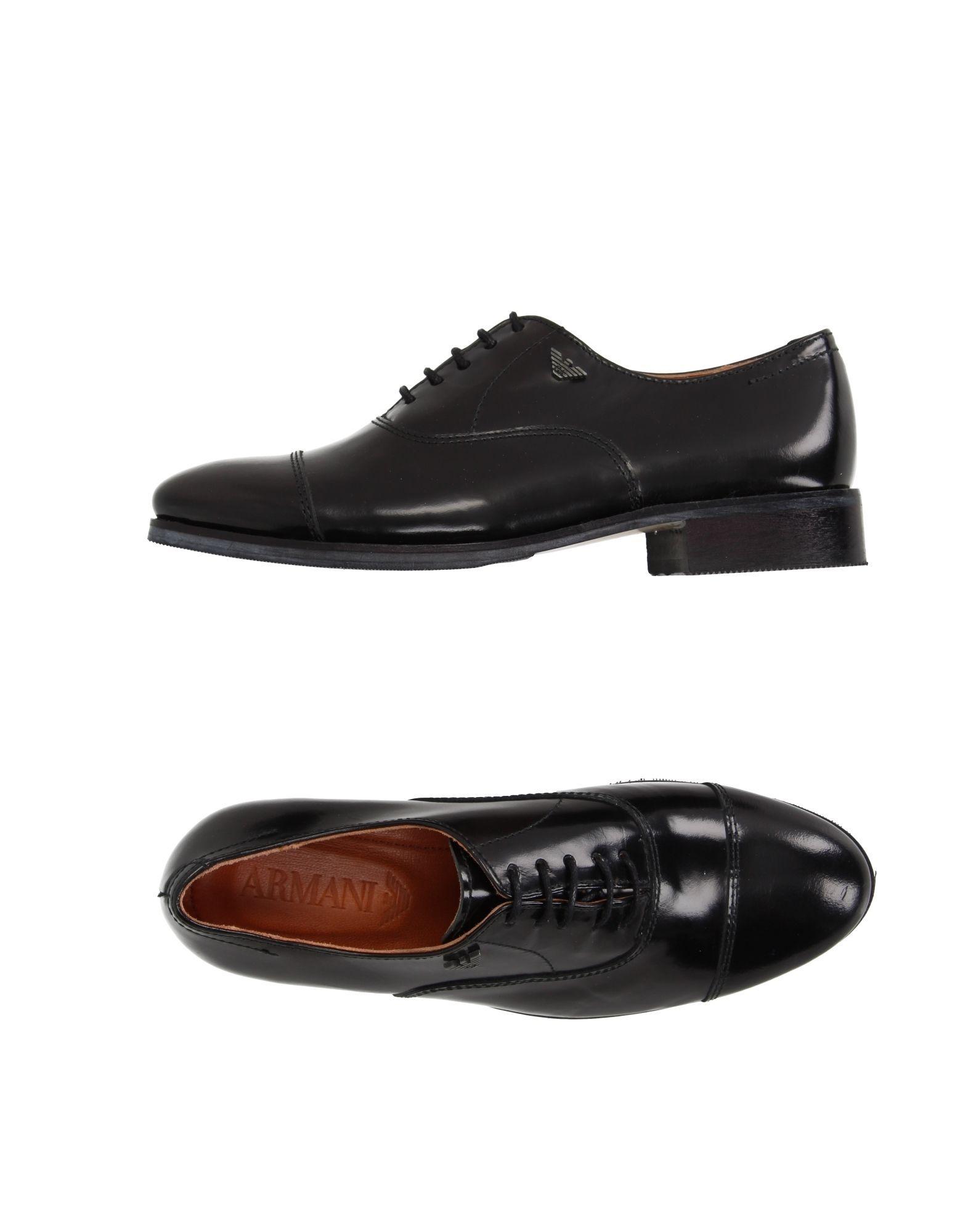 FOOTWEAR Armani Junior Black Boy Leather