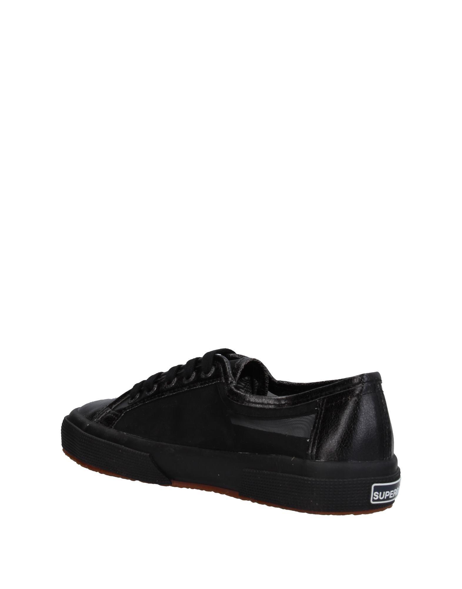 Superga Black Coated Fabric Sneakers