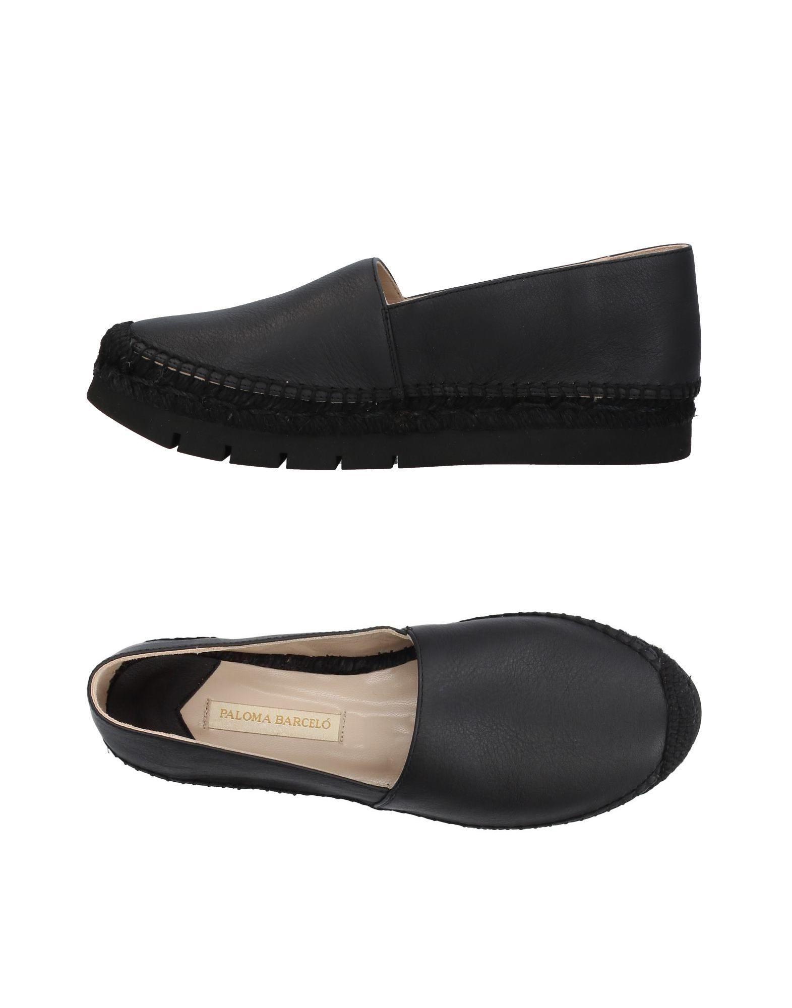 Paloma Barceló Black Leather Espadrilles