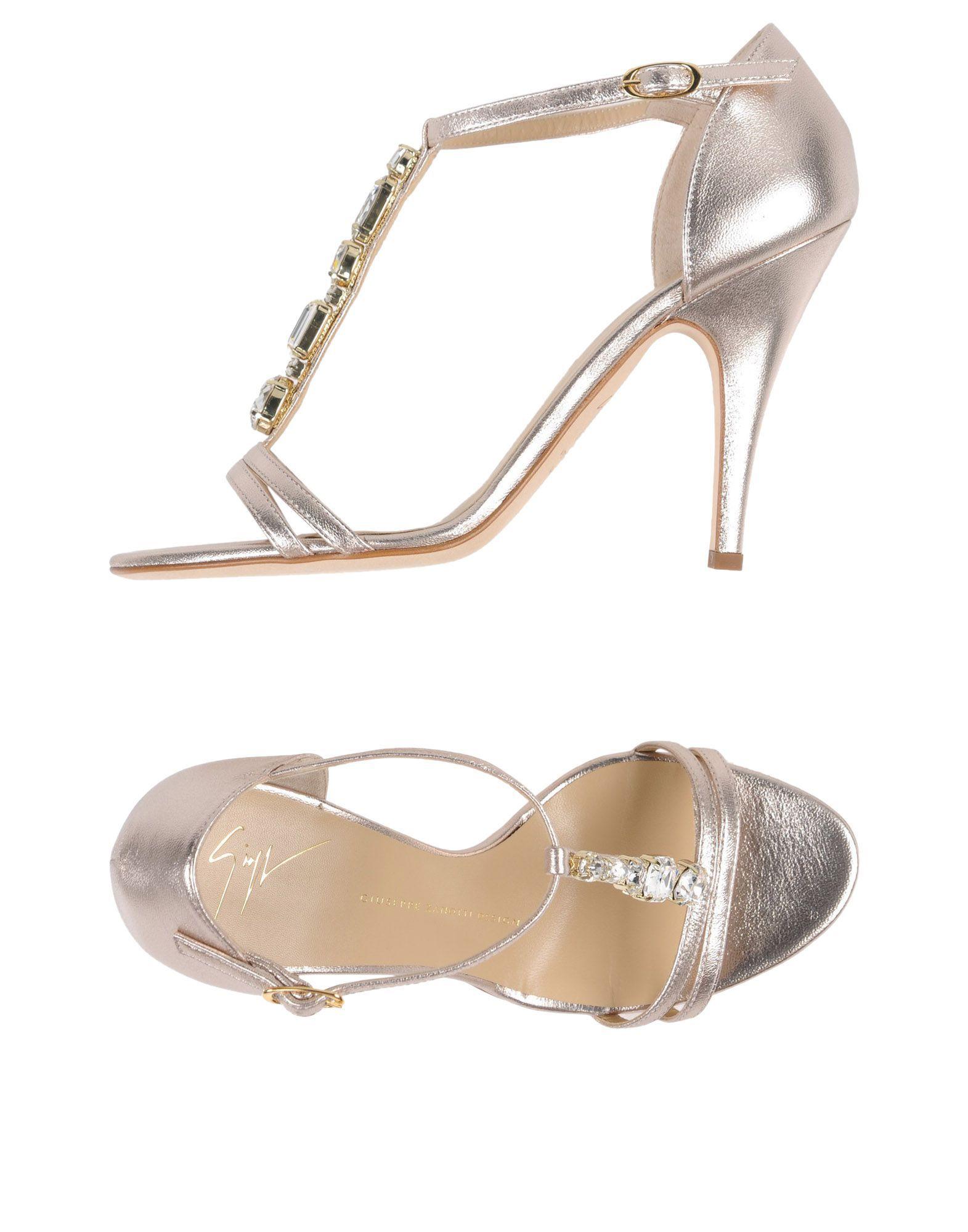Giuseppe Zanotti Platinum Leather Heels