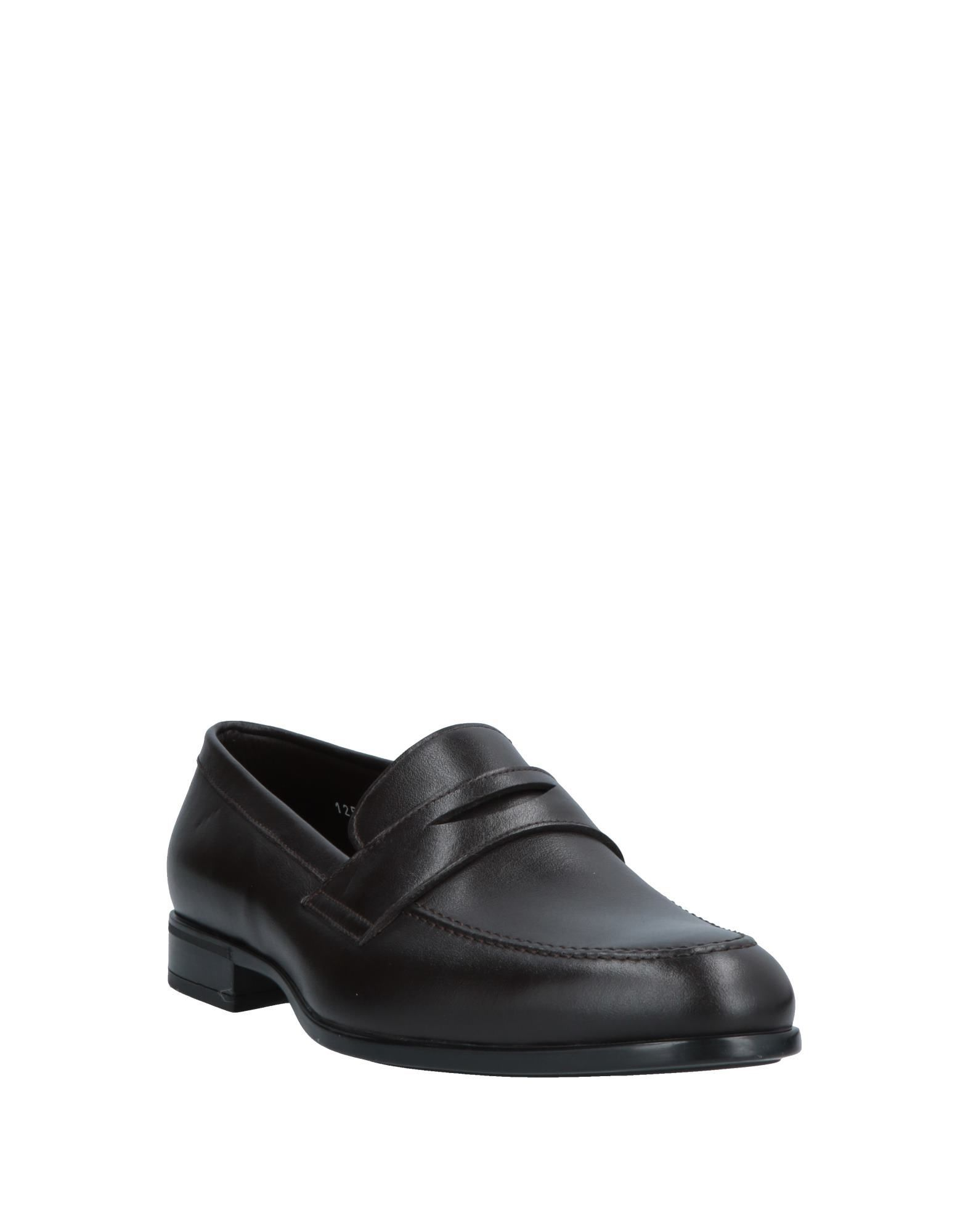 Doucal's Dark Brown Calf Leather Loafers