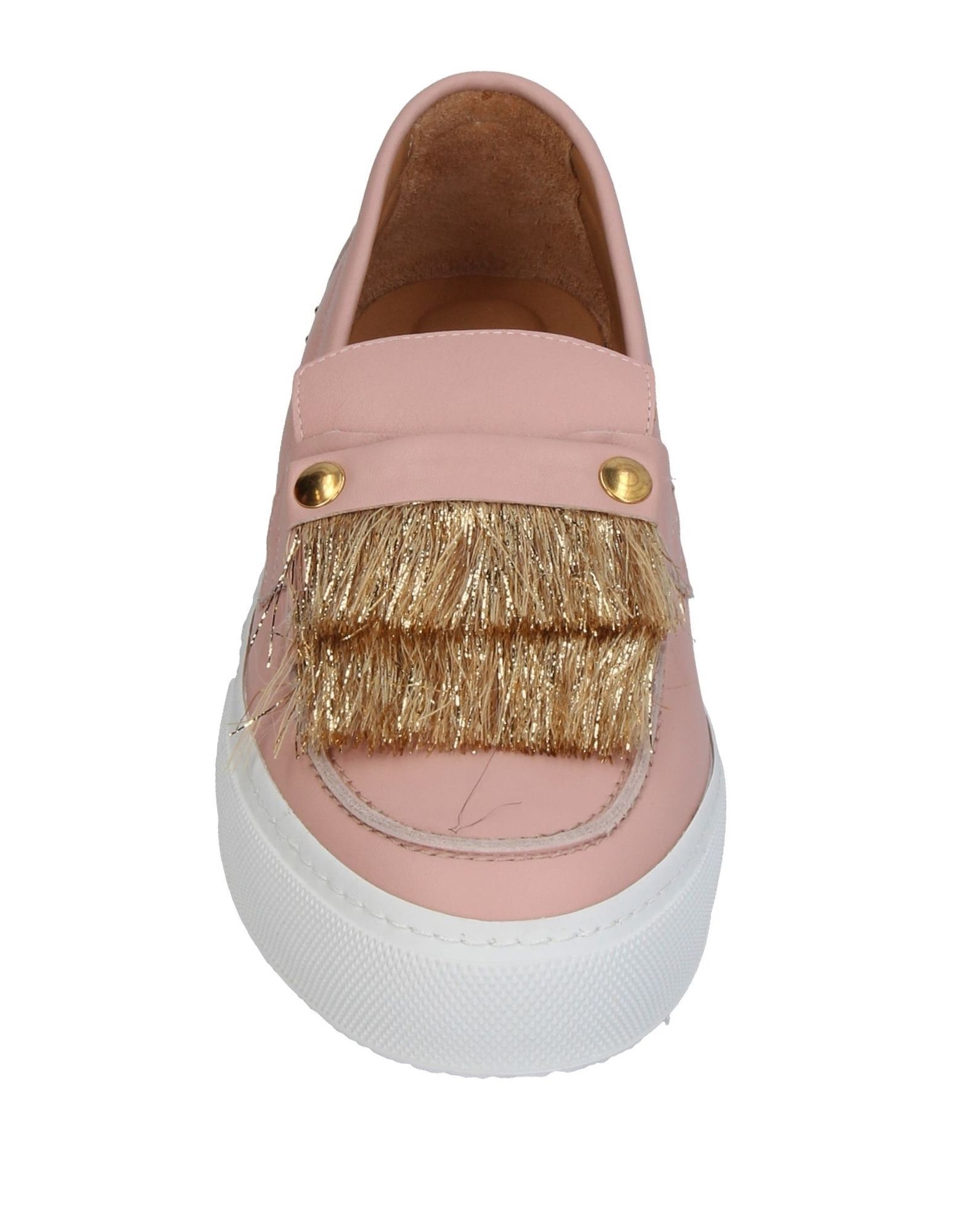 L'F Shoes Light Pink Leather Loafers