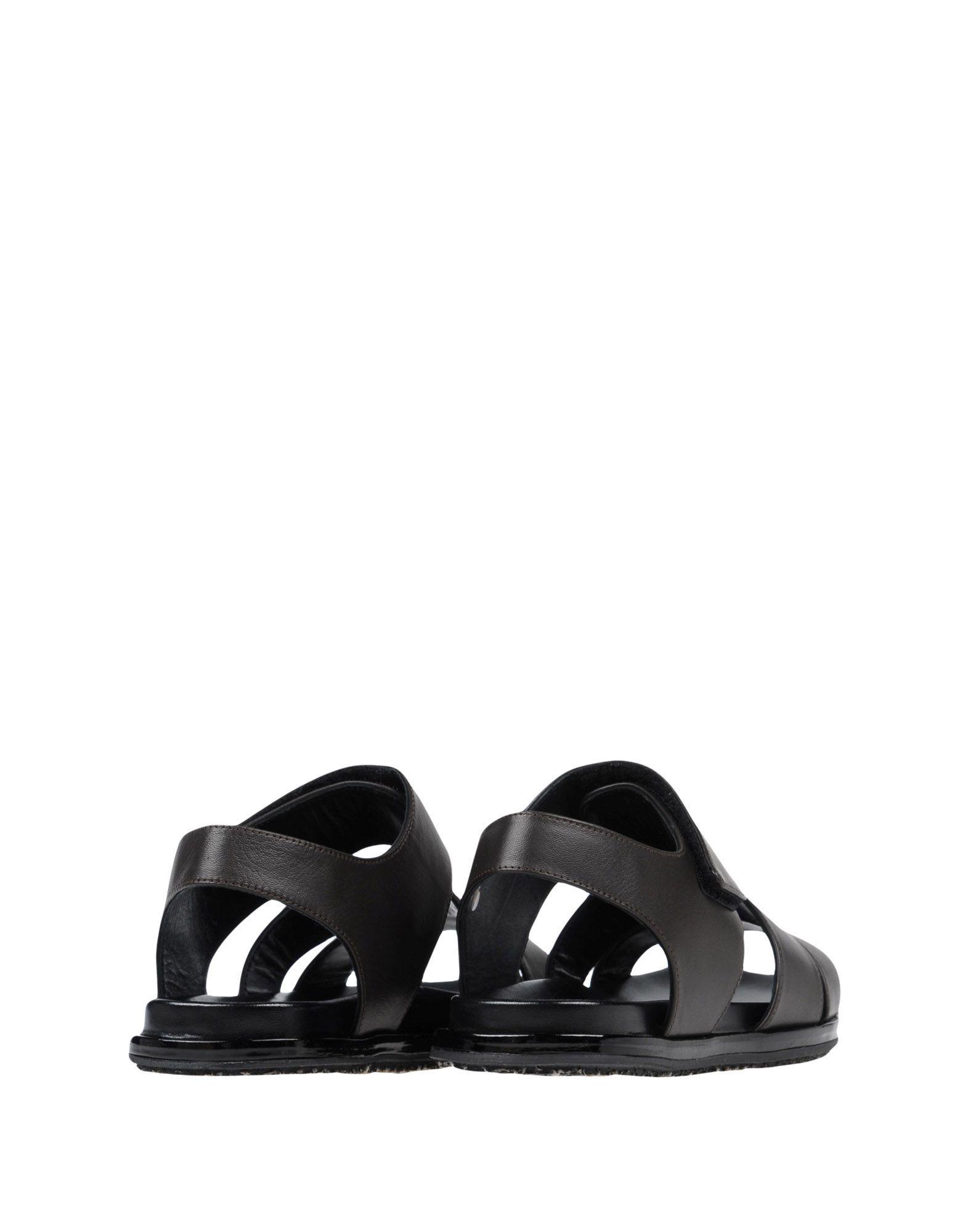 Marni Dark Brown Nappa Leather Sandals