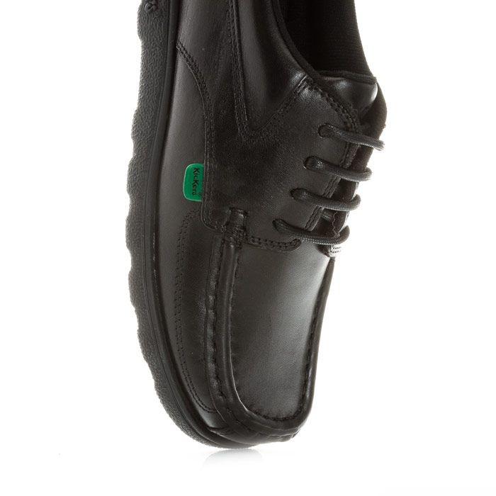 Boy's Kickers Children Fragma Lace Shoe in Black