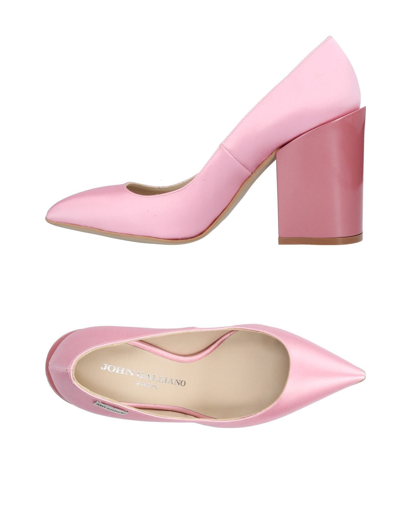 John Galliano Pink Leather Heels