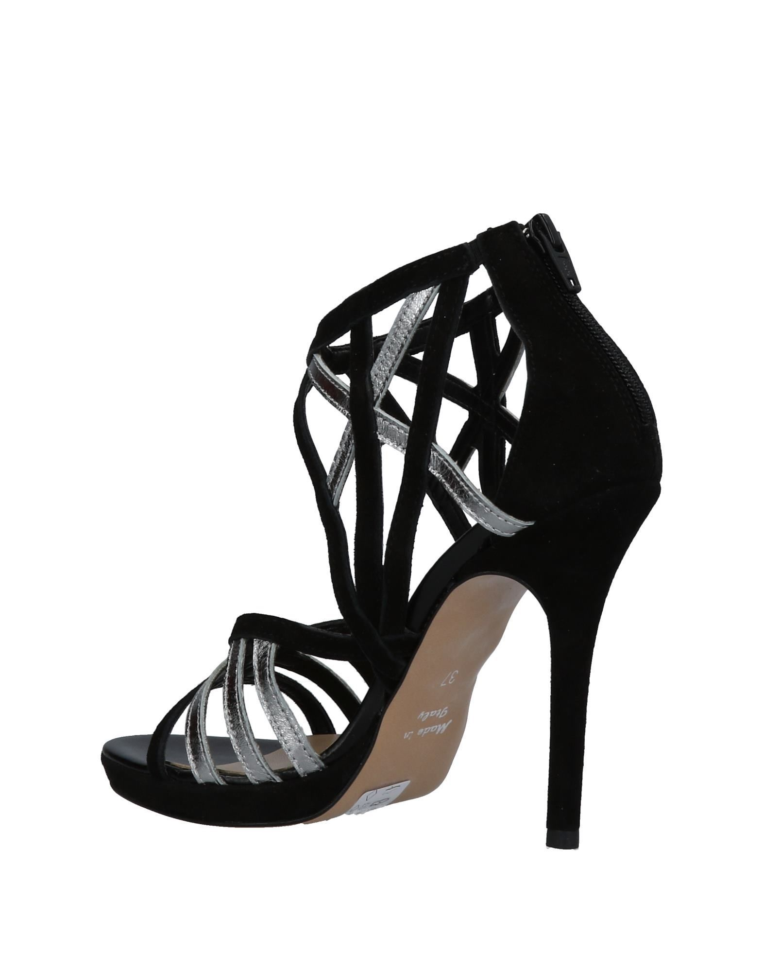 Eliana Bucci Black Leather Heeled Sandals