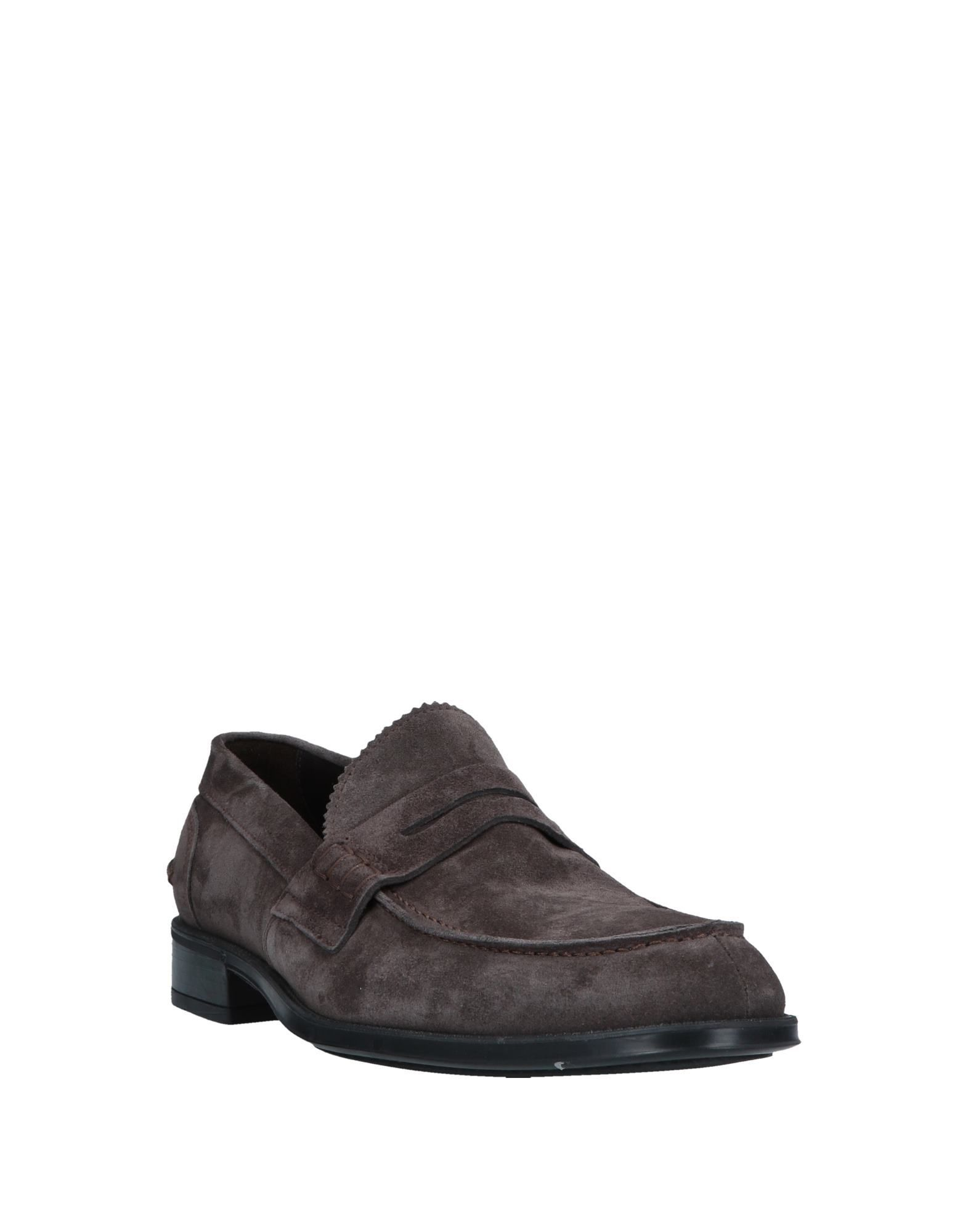 Doucal'S Man Loafers Lead Leather
