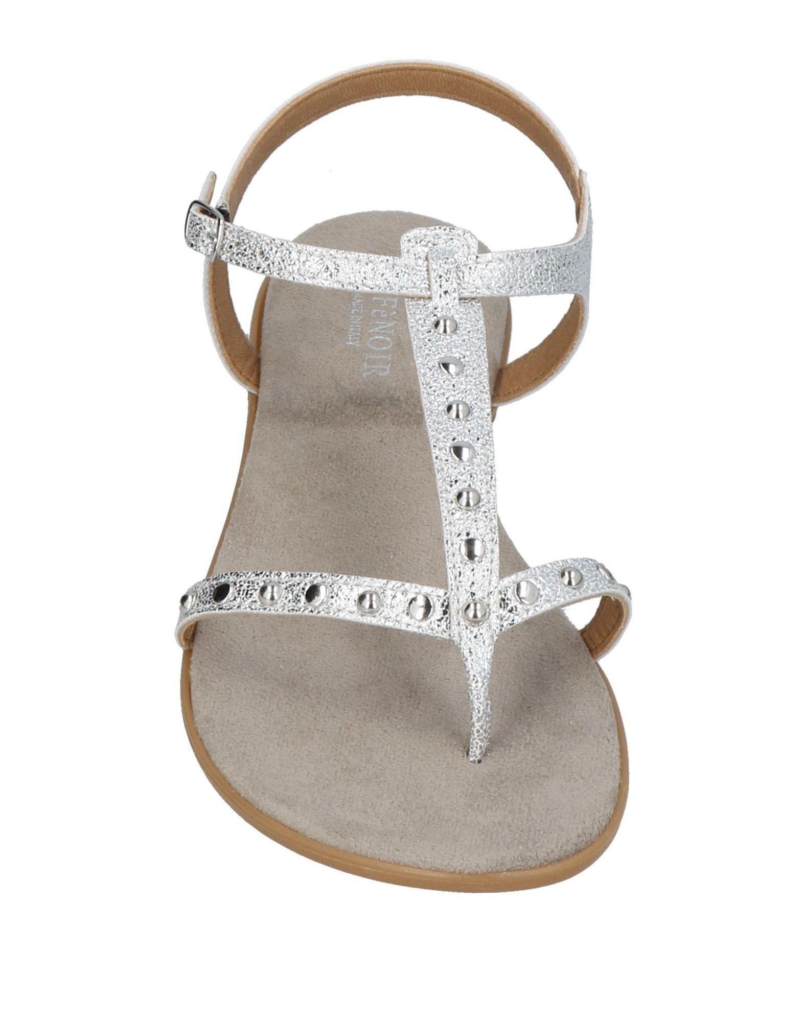 Cafènoir Silver Toe Post Sandals