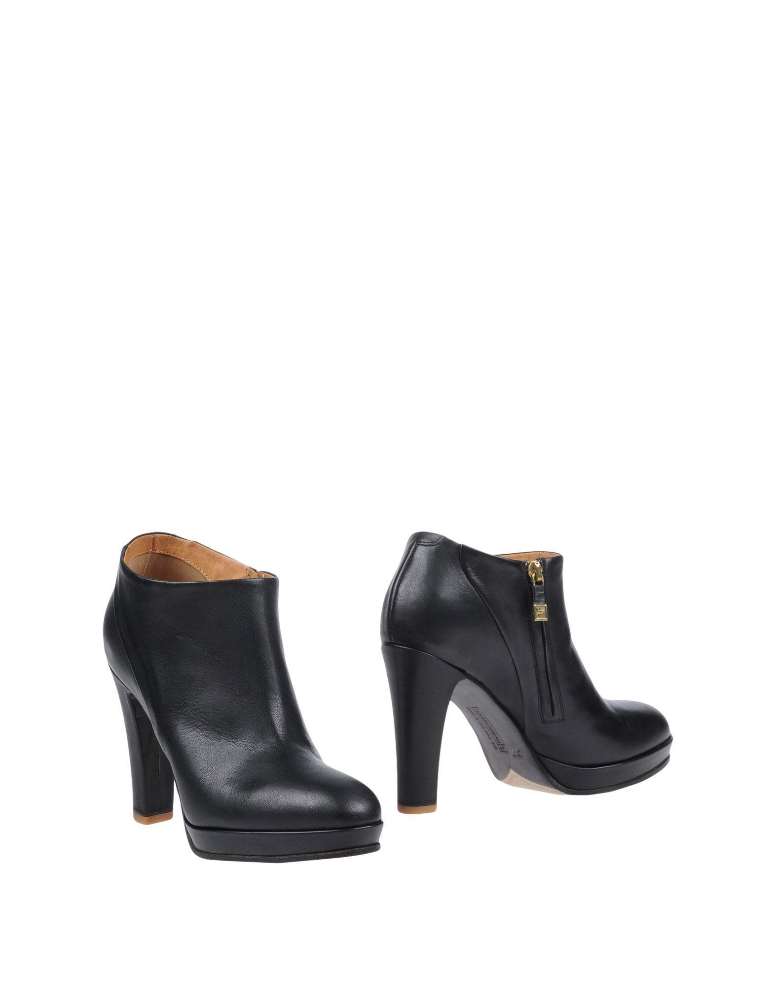 Alberto Fermani Black Leather Heeled Ankle Boots