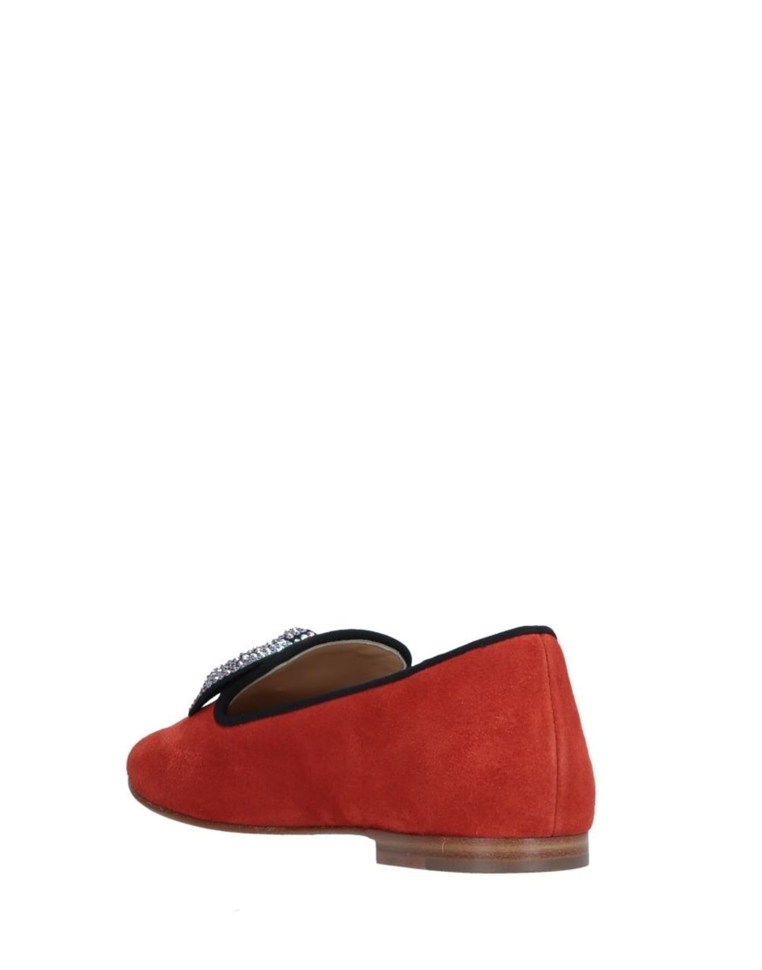 Giuseppe Zanotti Red Leather Loafers