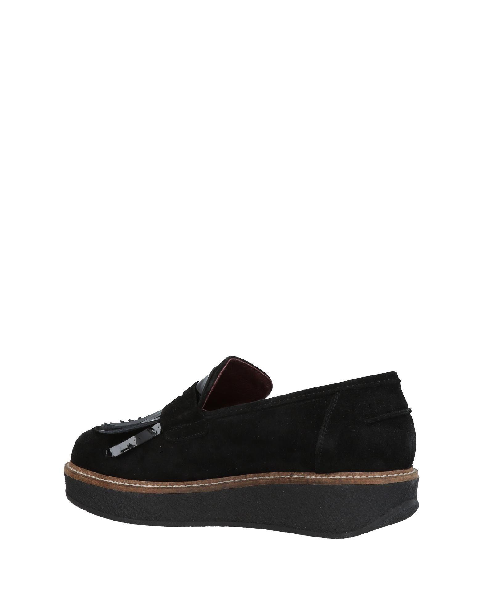 Footwear Marina Grey Black Women's Leather