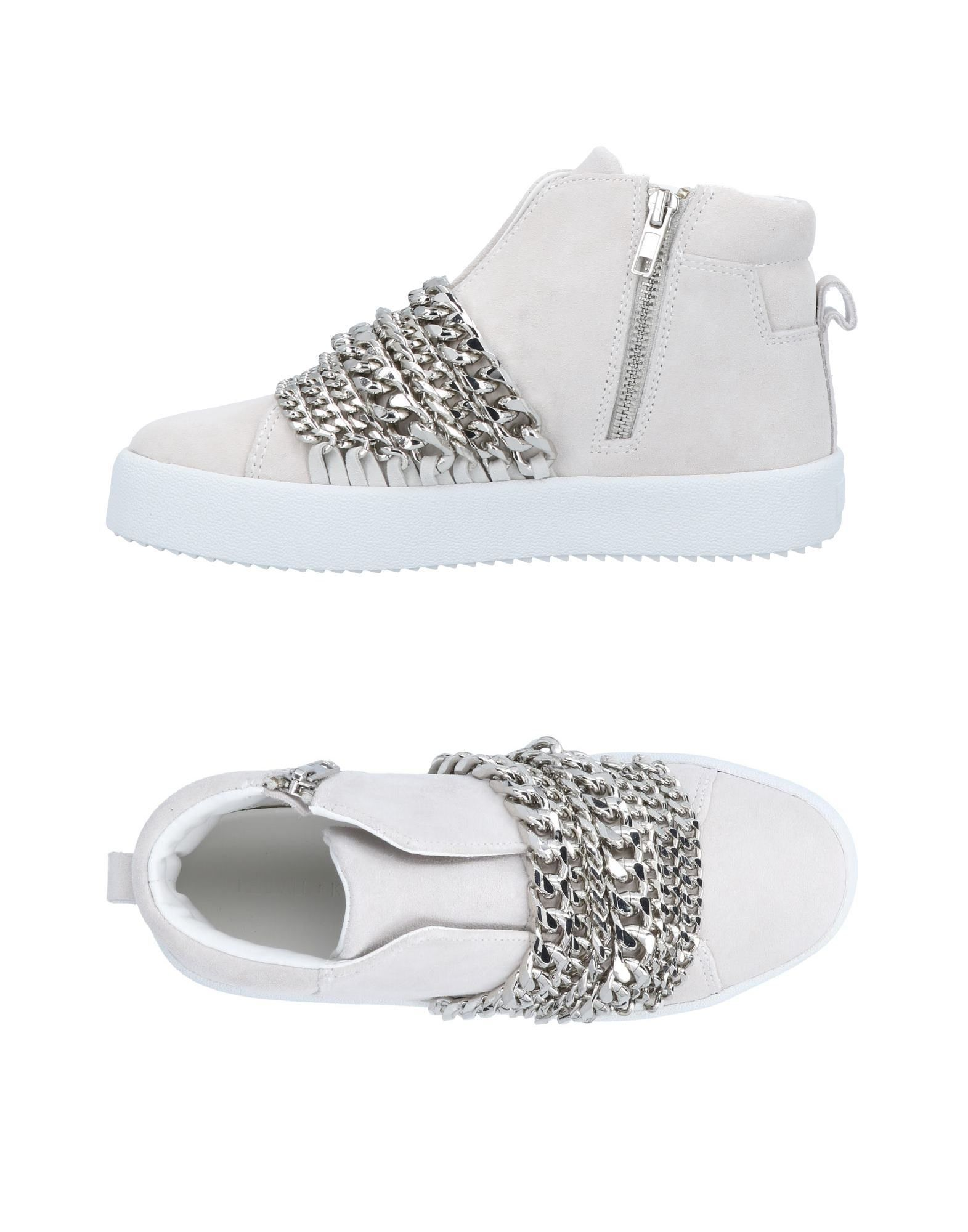Kendall + Kylie Ivory Leather Sneakers