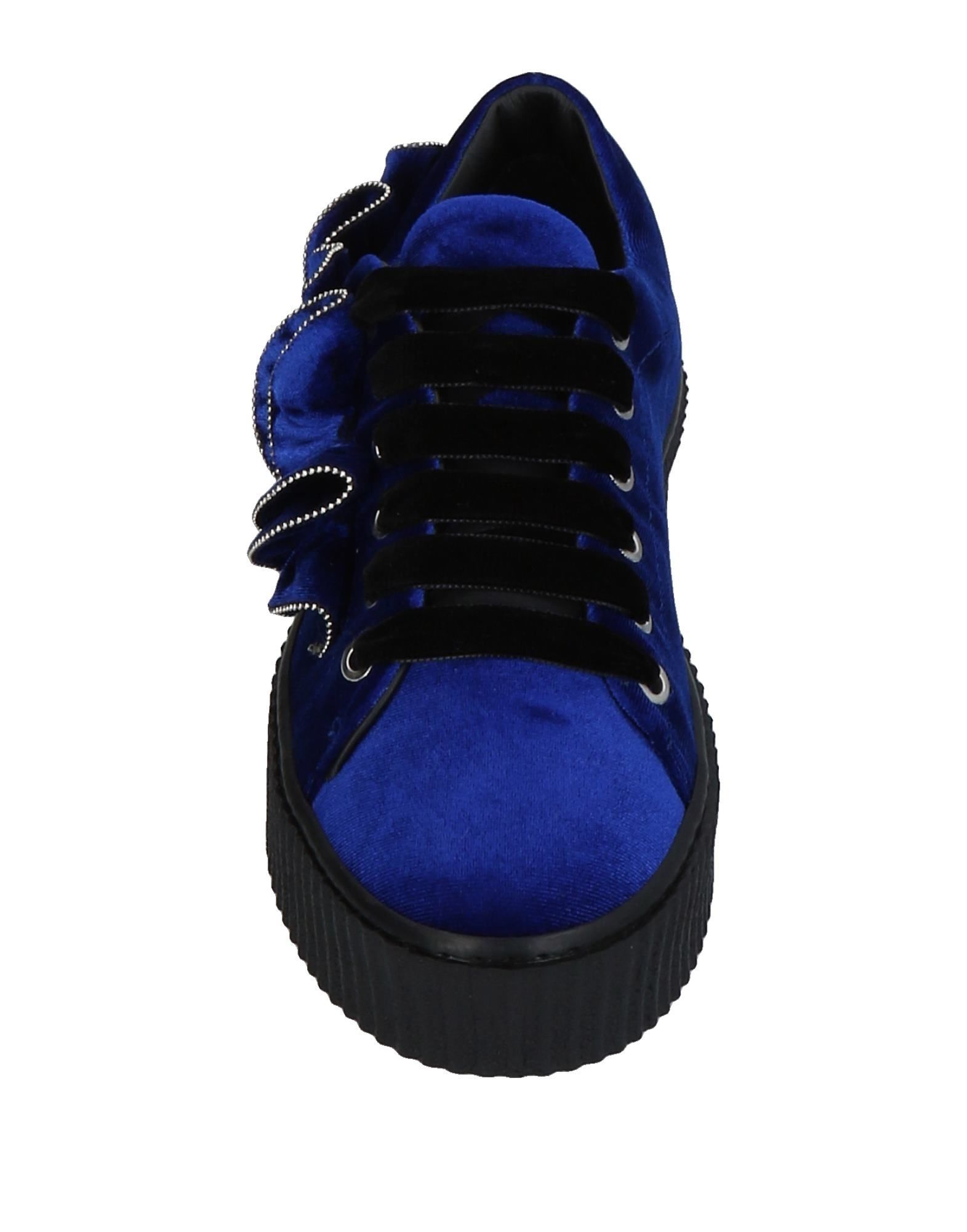 Pinko Dark Blue Velvet Sneakers