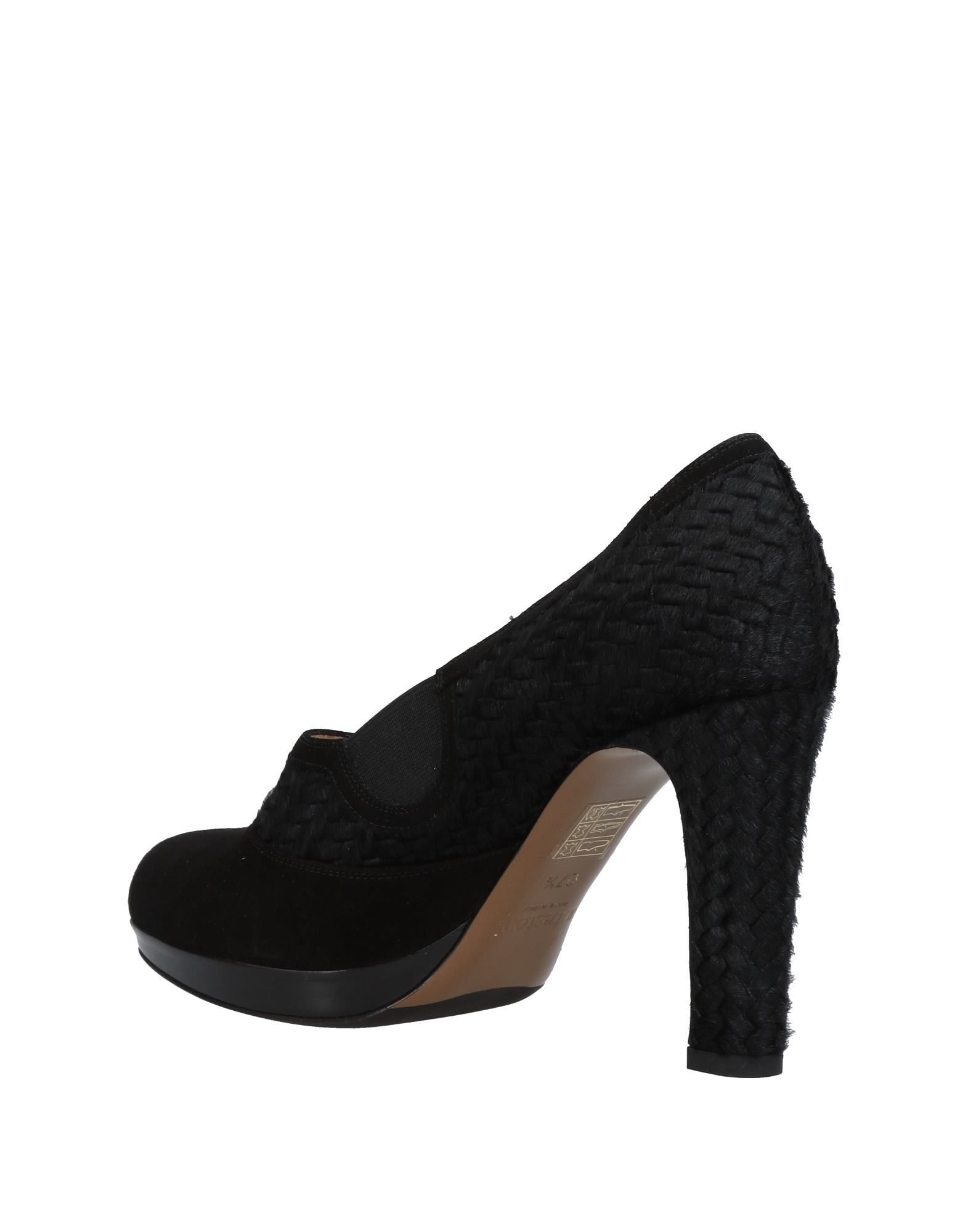 A.Testoni Black Leather Heels