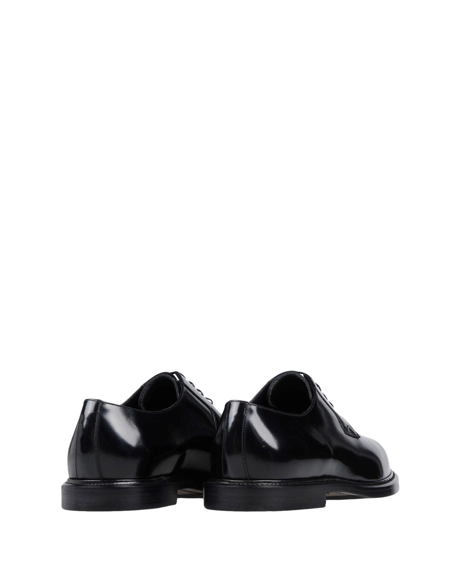 Dolce & Gabbana Black Polished Calf Leather Shoes