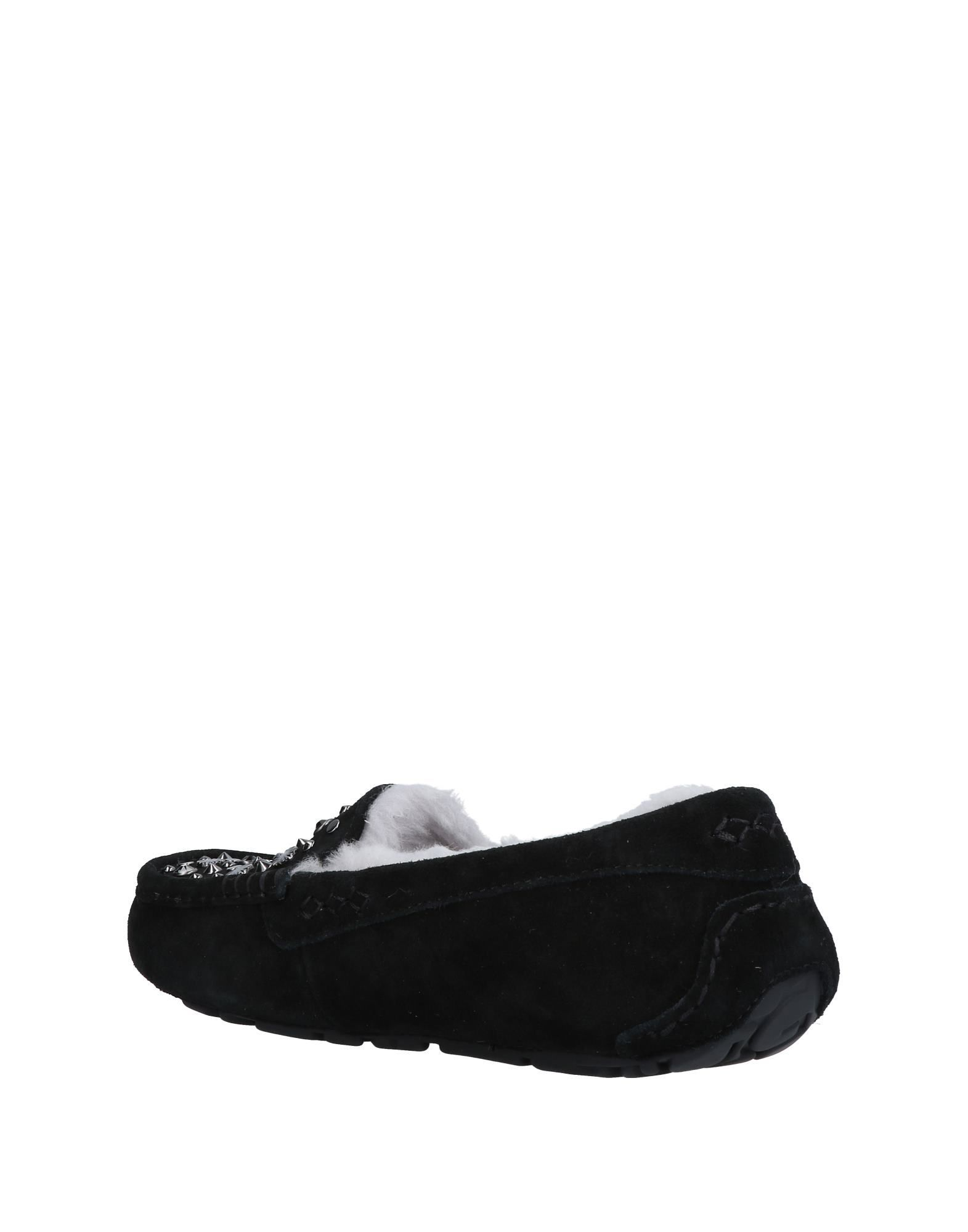 Ugg Australia Black Leather Studded Slippers