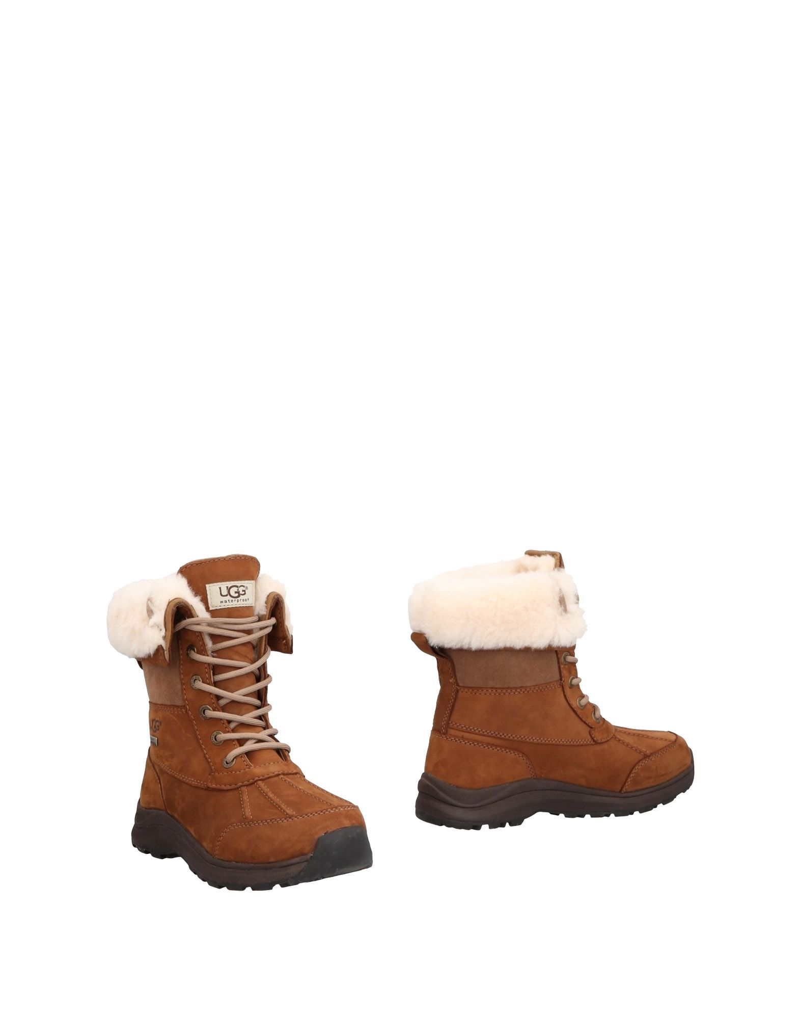 Ugg Australia Camel Leather Lace Up Boots