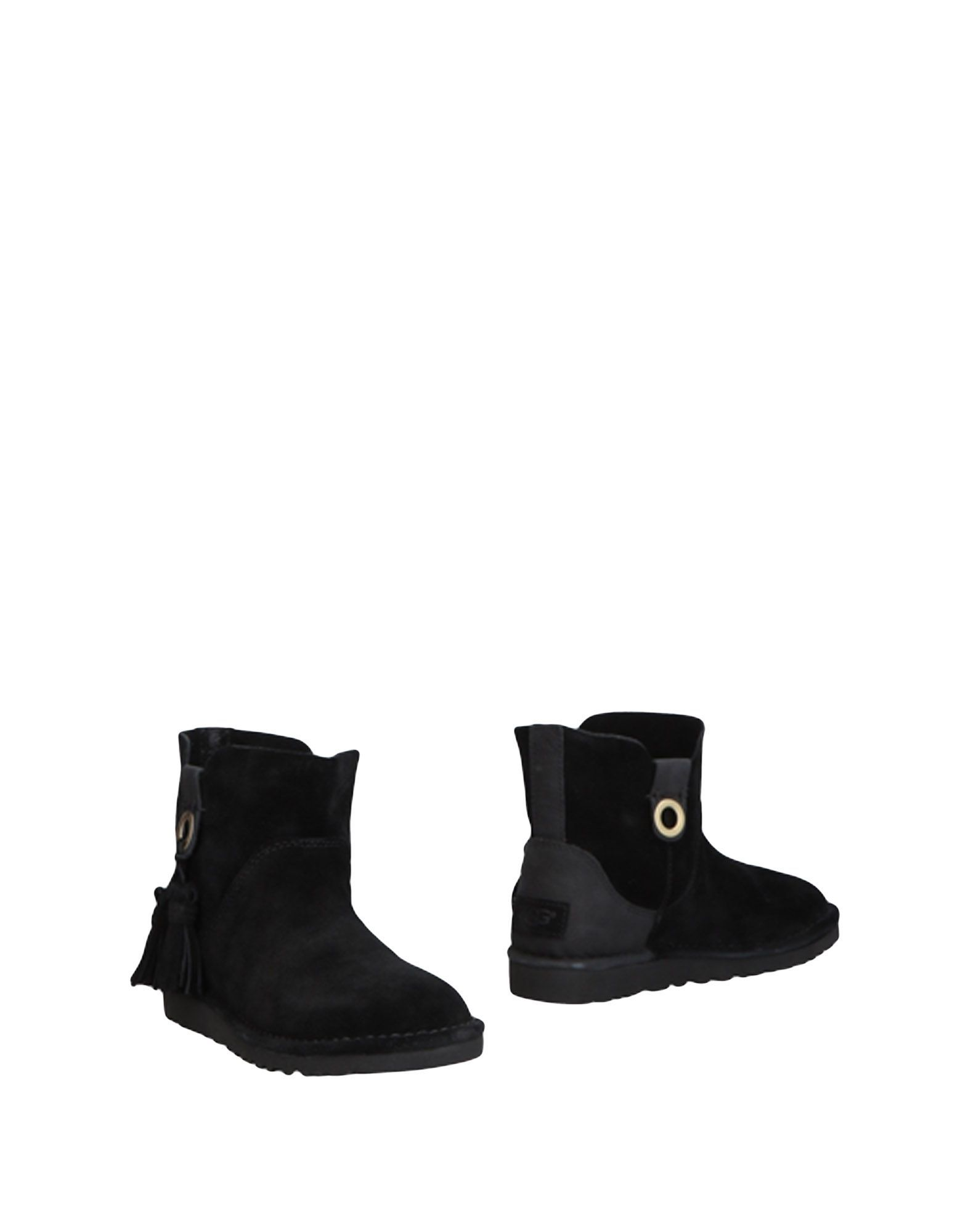 Ugg Australia Black Leather Ankle Boots