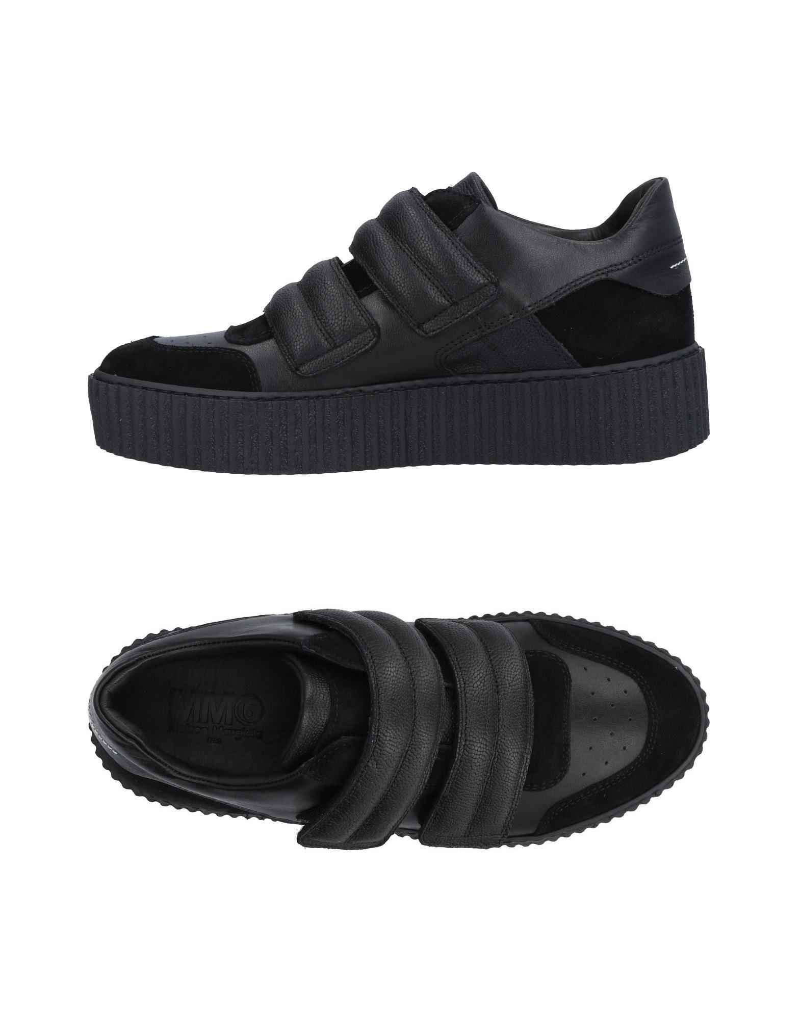 MM6 Maison Margiela Black Leather Sneakers