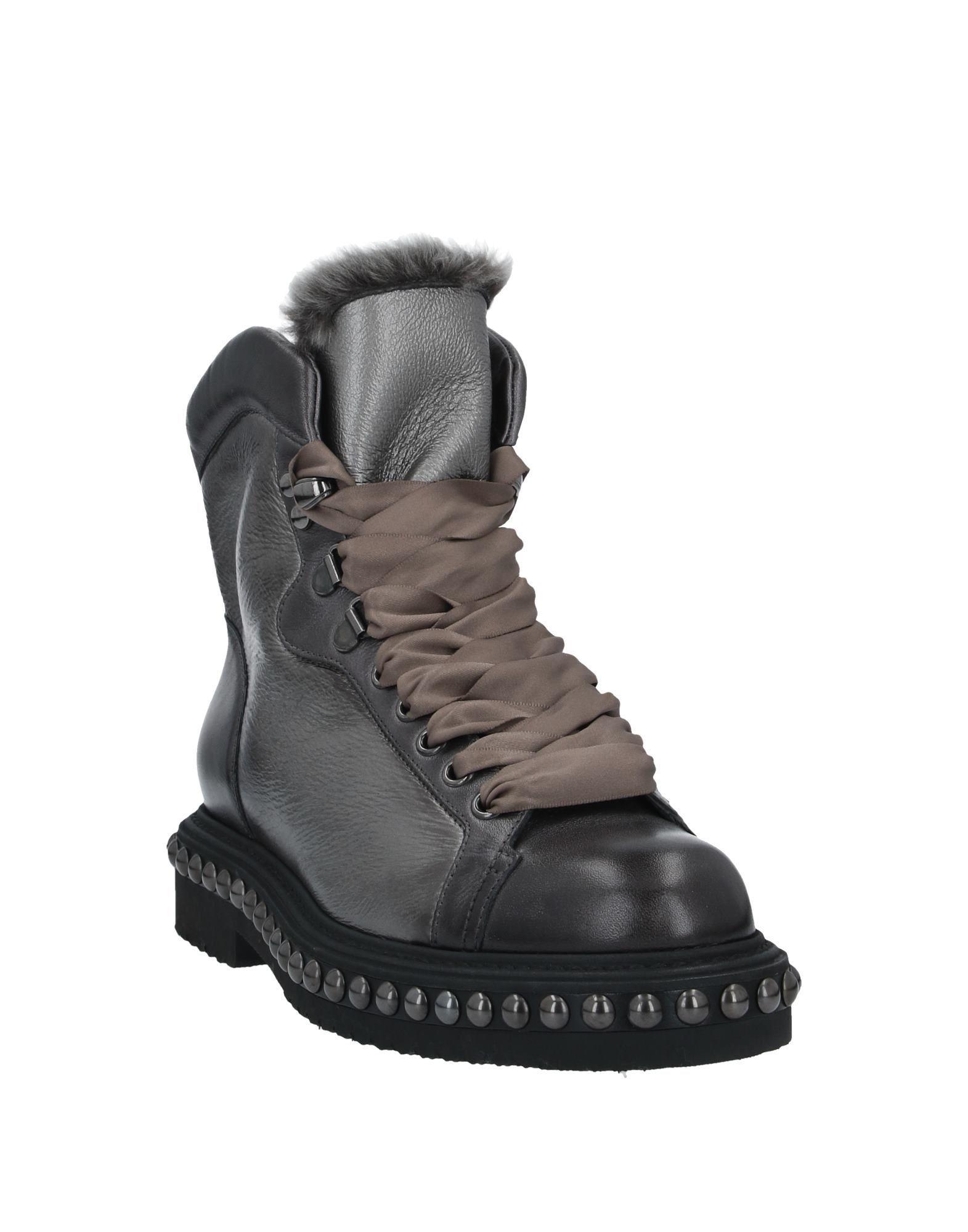 Santoni Lead Leather Ankle Boots