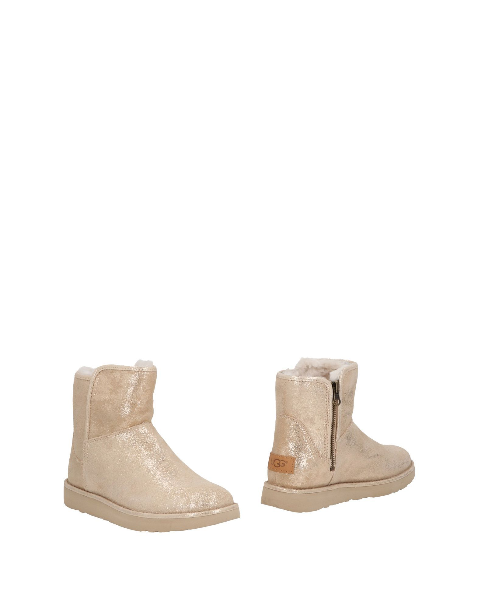 Ugg Australia Beige Leather Ankle Boots