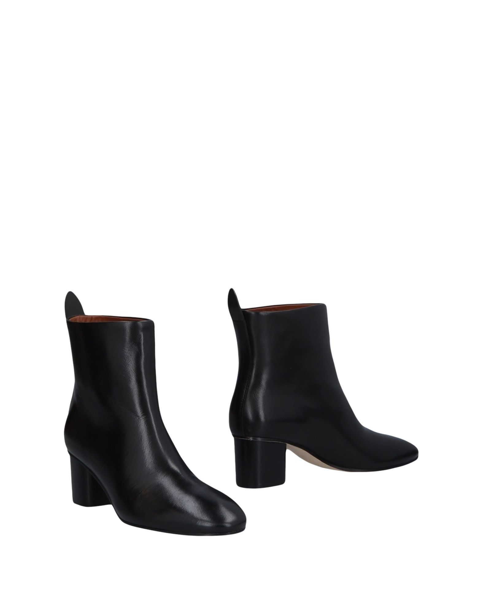Joseph Black Leather Ankle Boots