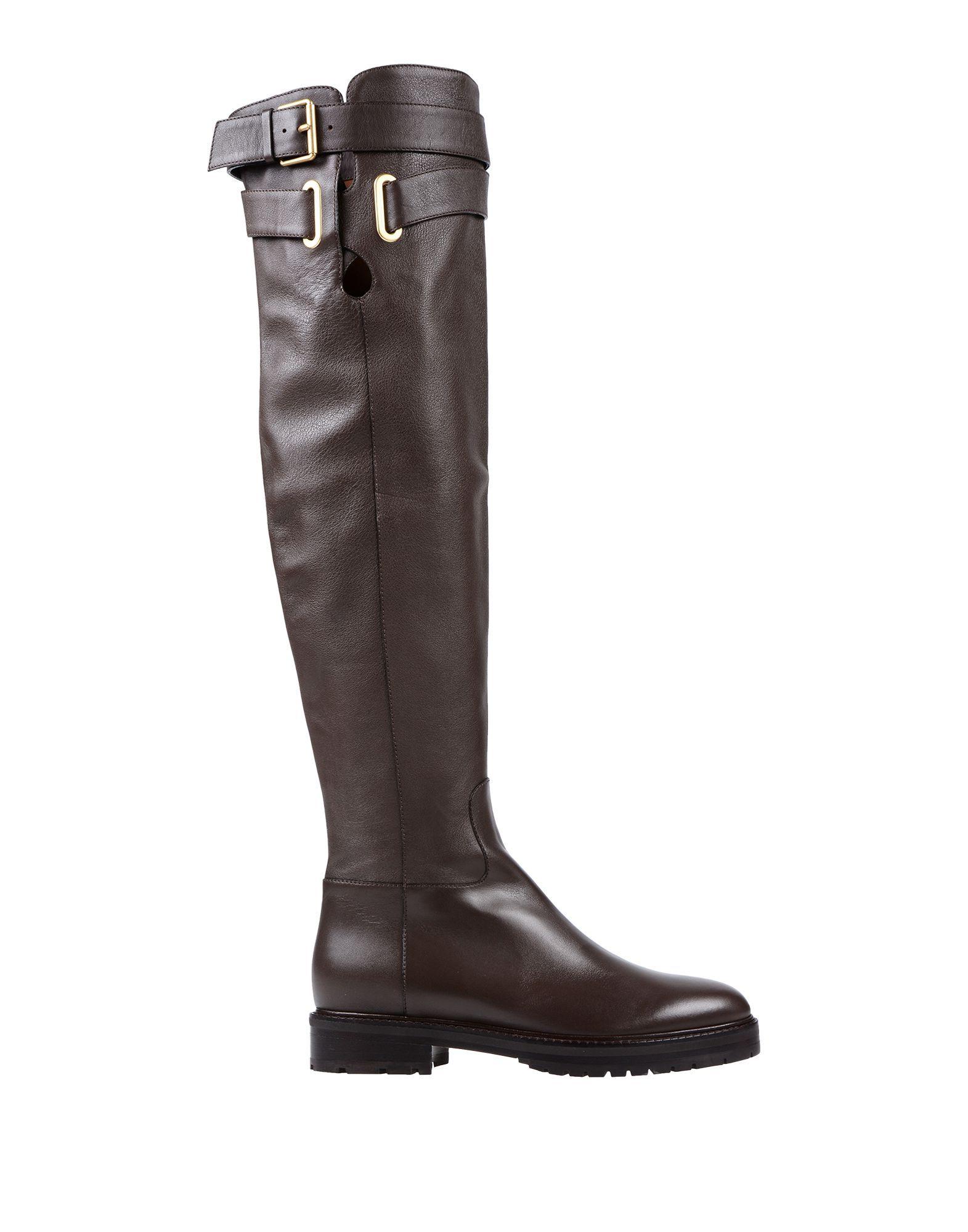 Valentino Garavani Dark Brown Leather Boots