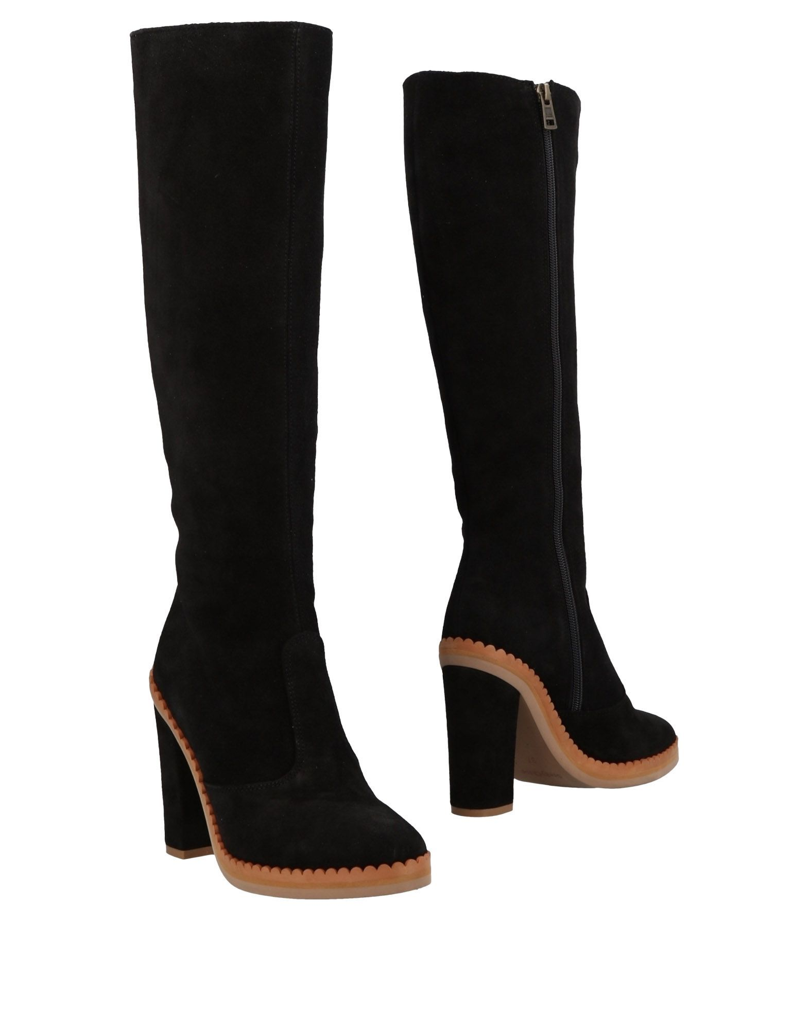 See By Chloe Black Leather Knee High Boots