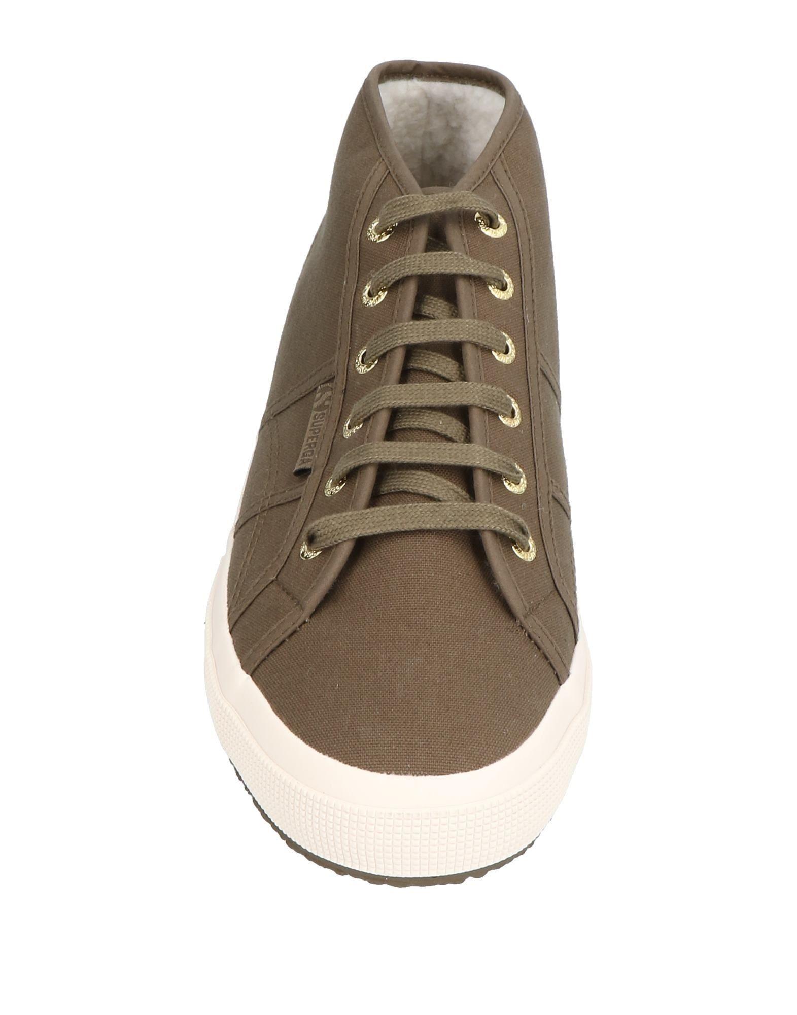 Superga Military Green Cotton Canvas Sneakers
