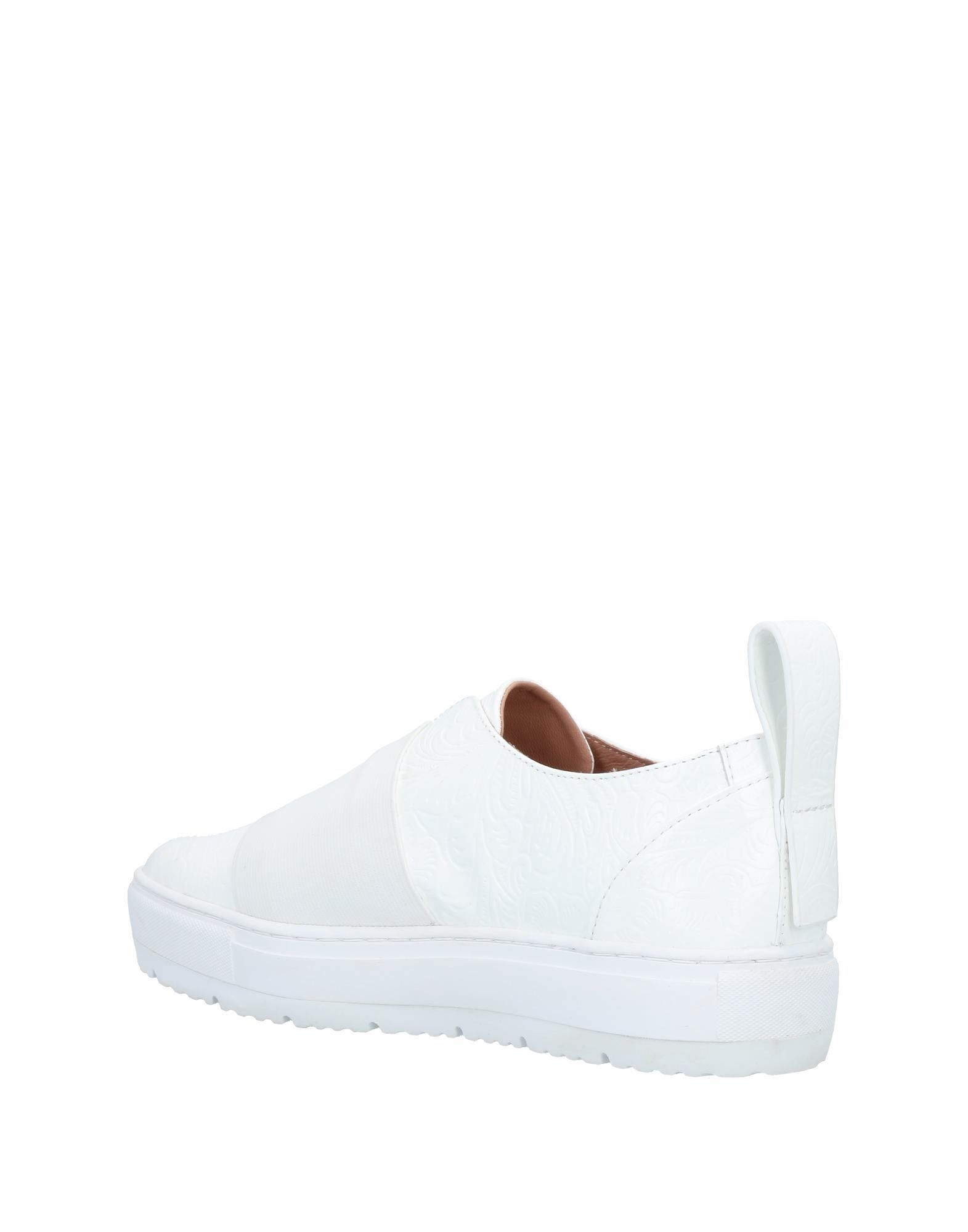 Jil Sander Navy White Calf Leather Slip Ons