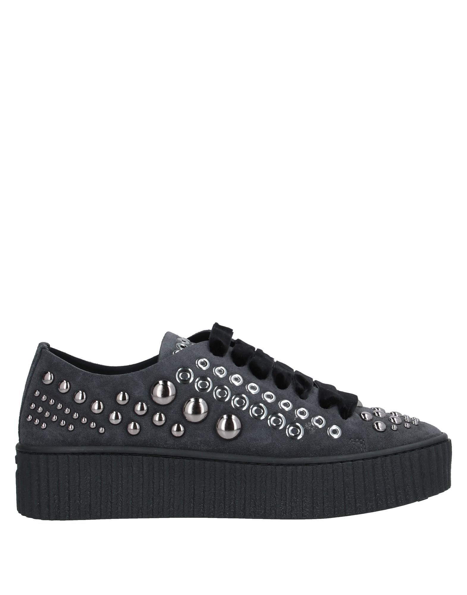 Pinko Lead Leather Studded Sneakers