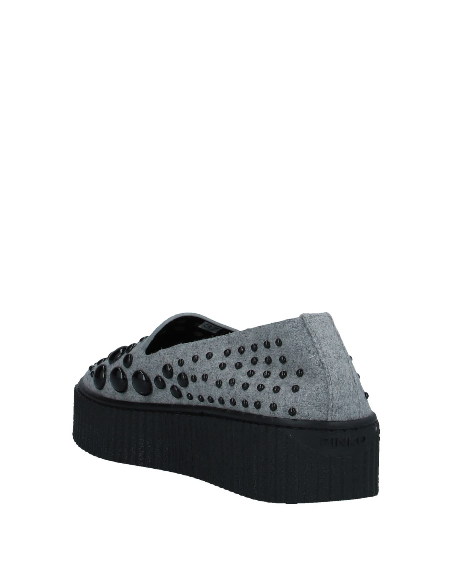 Pinko Light Grey Studded Slip On Loafers