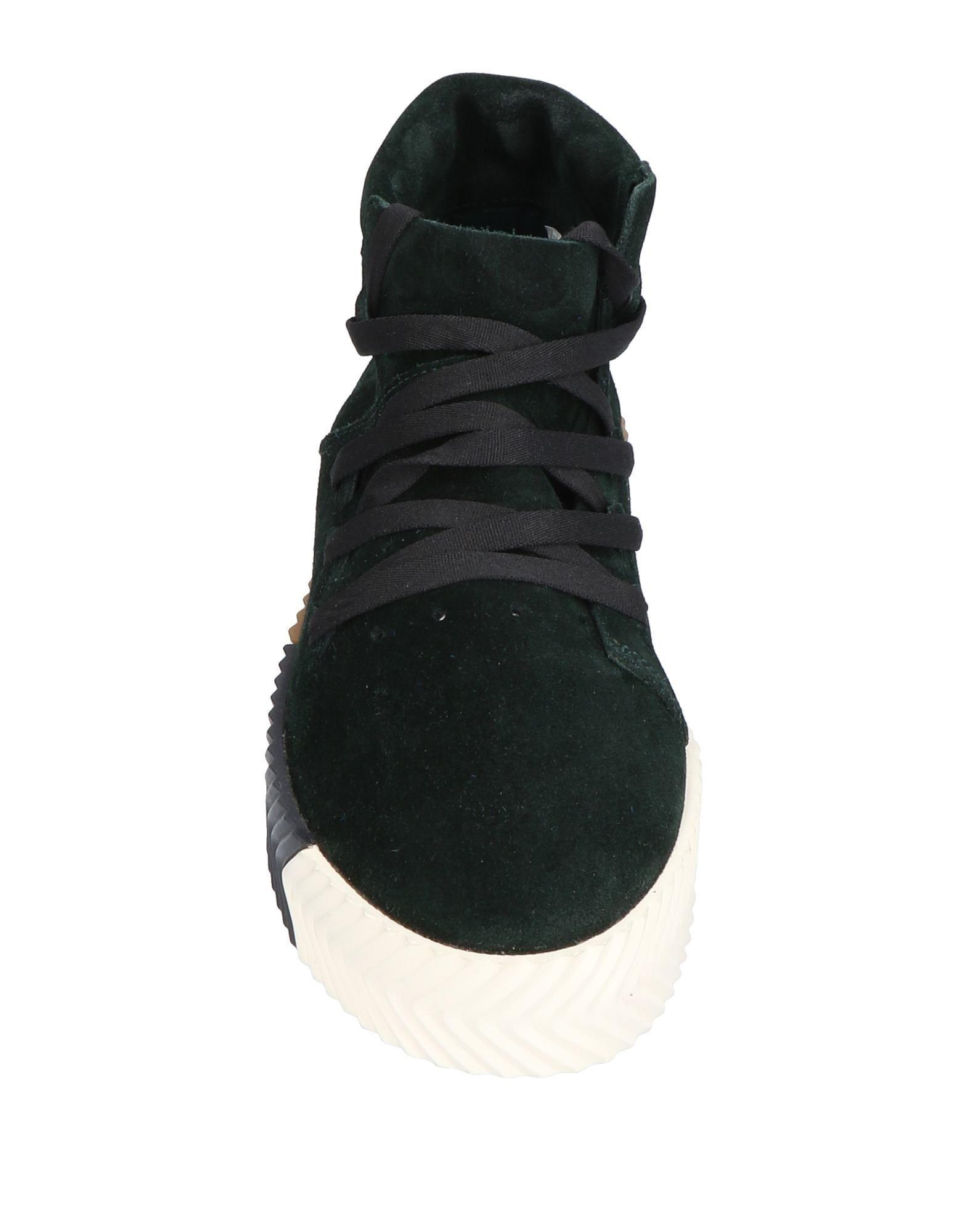 Adidas Dark Green Leather Sneakers