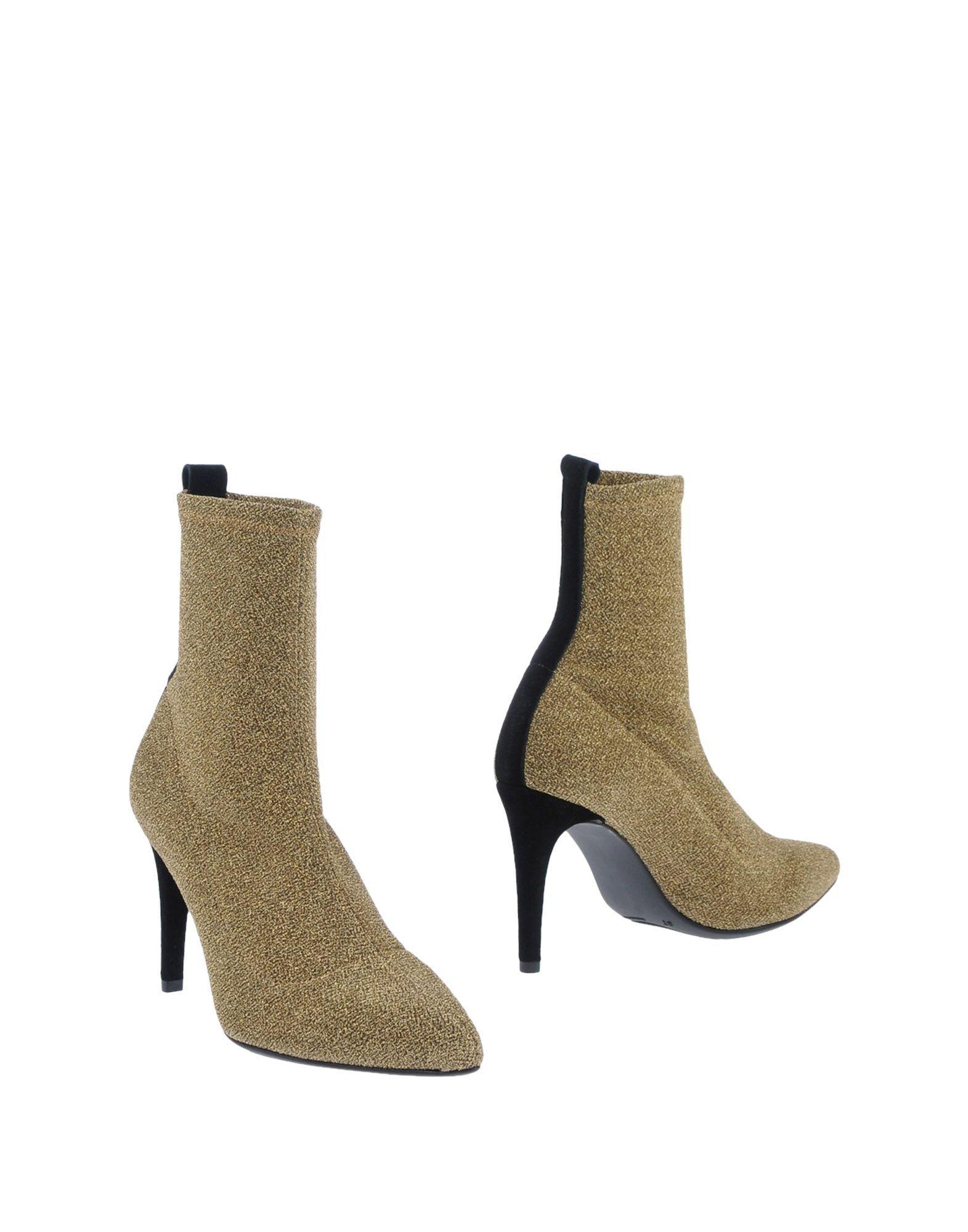 Ancarani Women's Ankle Boots Gold Textile Fibres