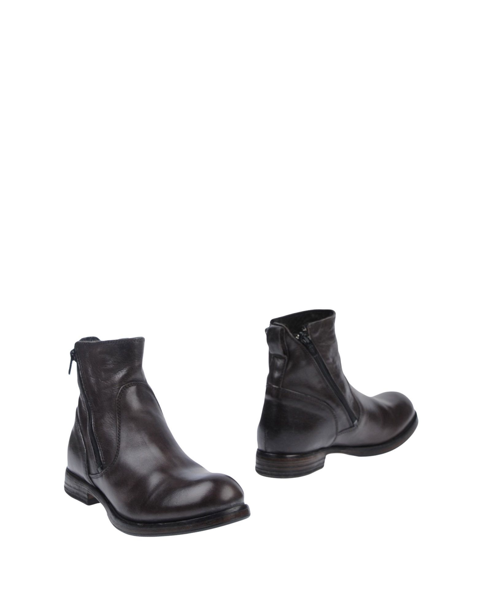 Moma Dark Brown Leather Boots