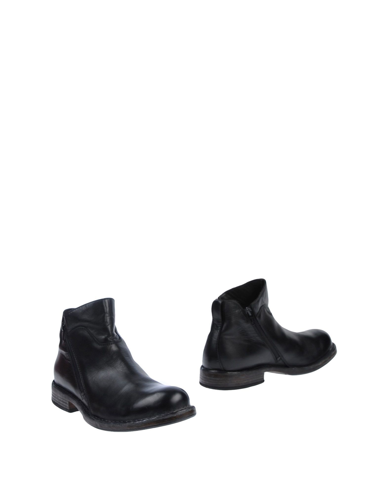 Moma Black Leather Boots