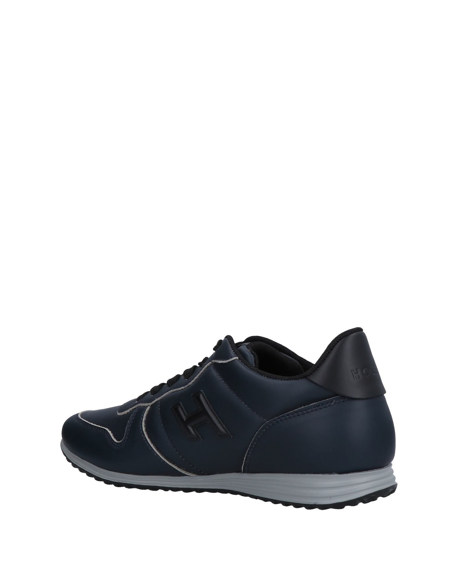 Hogan Dark Blue Leather Sneakers