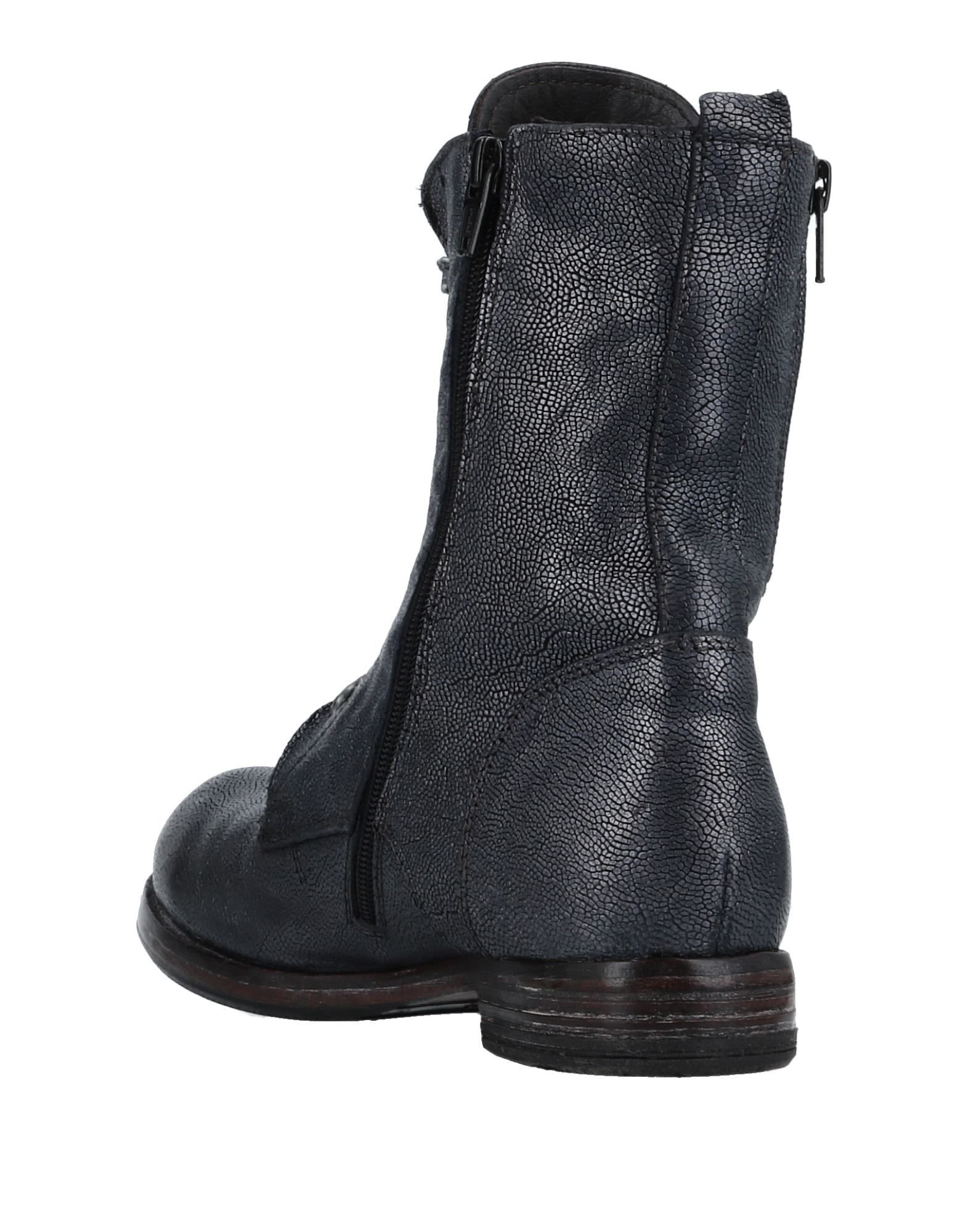 Moma Slate Blue Leather Lace Up Boots
