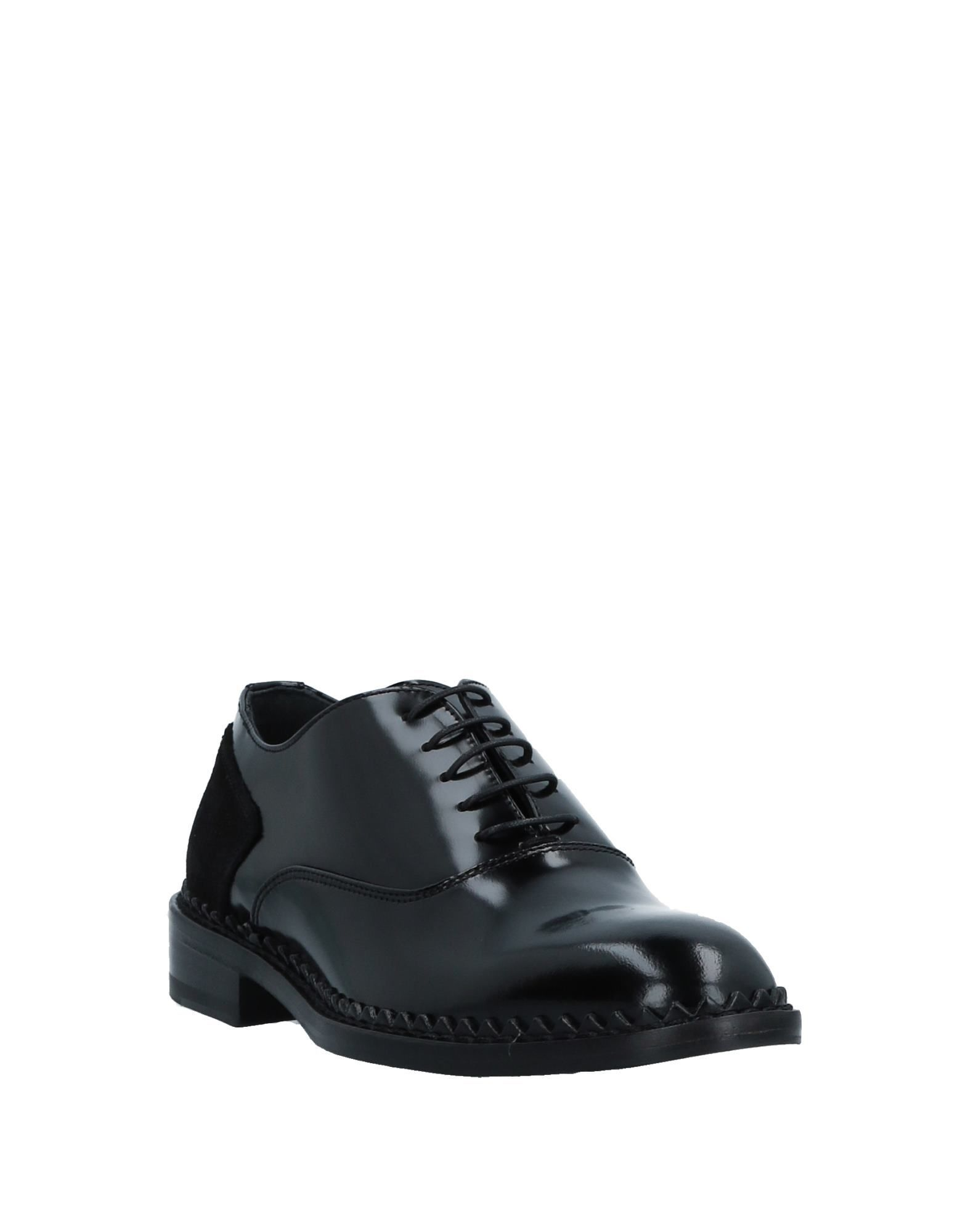 John Galliano Black Leather Lace Up Shoes