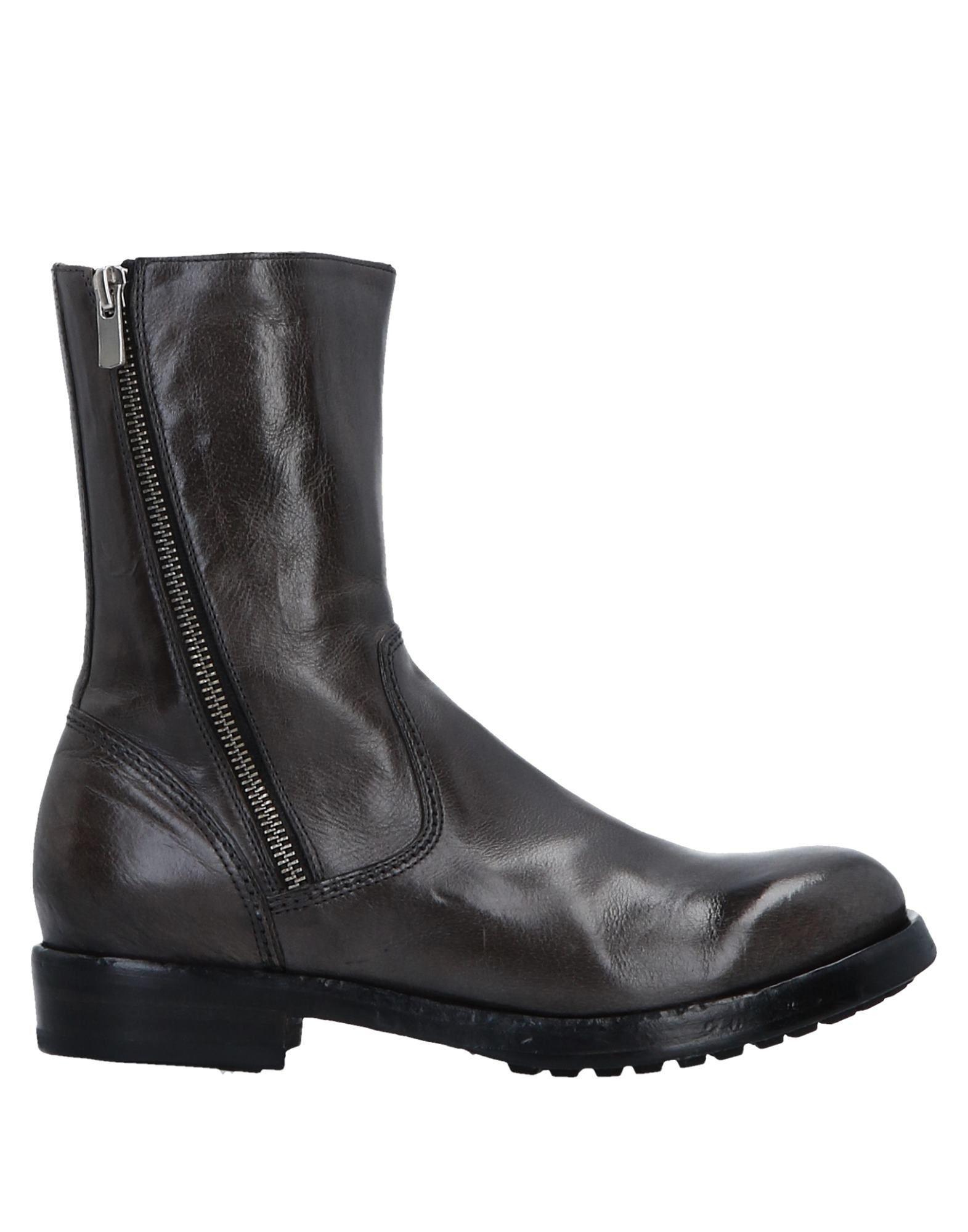 Officine Creative Italia Lead Polished Leather Boots